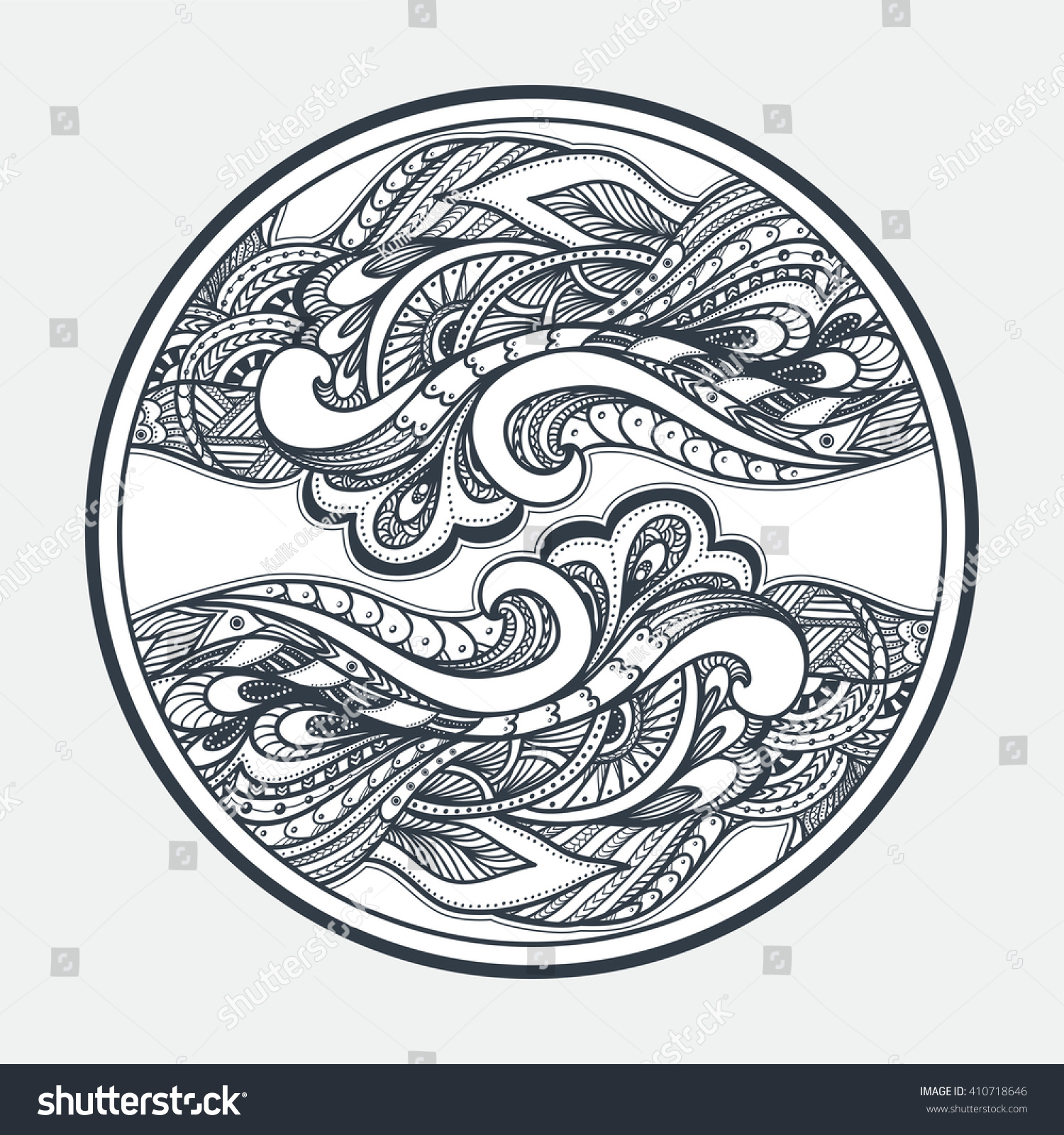 Zendoodle zentangle texture pattern black on stock vector for Zendoodle coloring pages