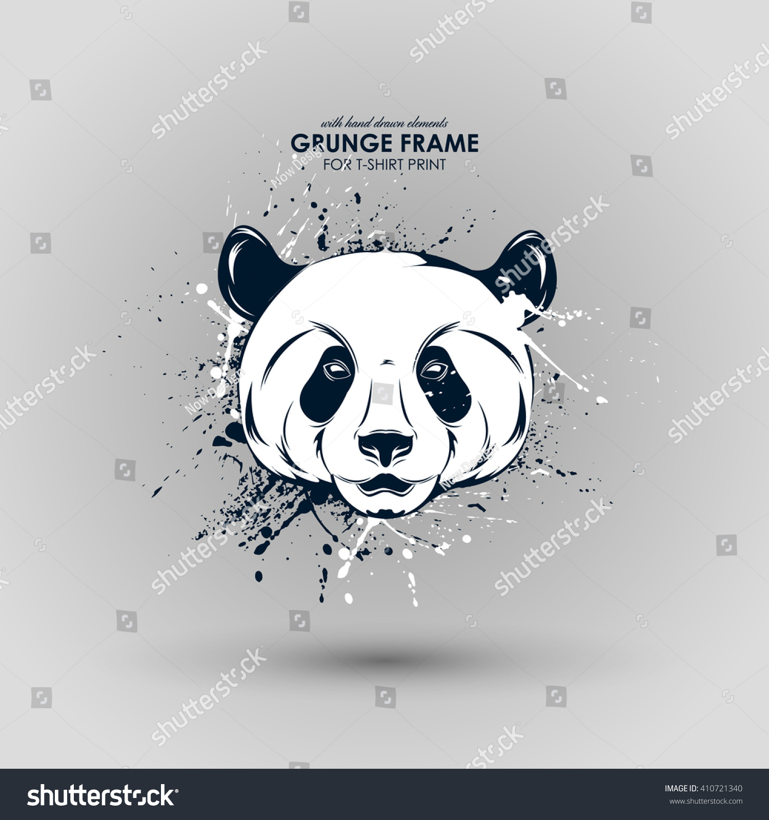 8f875cd4f8cd Abstract grunge animal print for t-shirt. Panda modern street style  attributes. Vector.