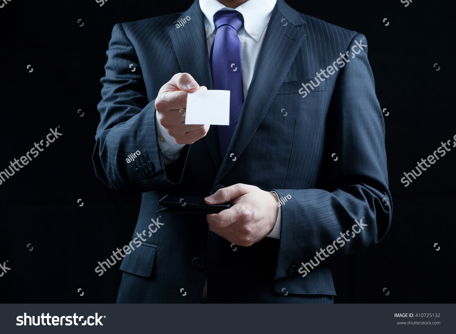 Businessman Business Cards Business Card Exchange Stock Photo ...