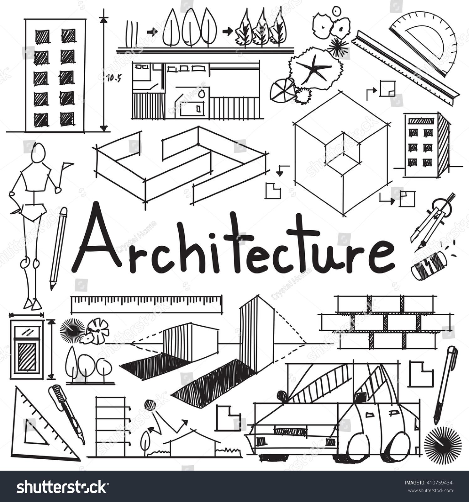 architecture architect design profession building exterior stock