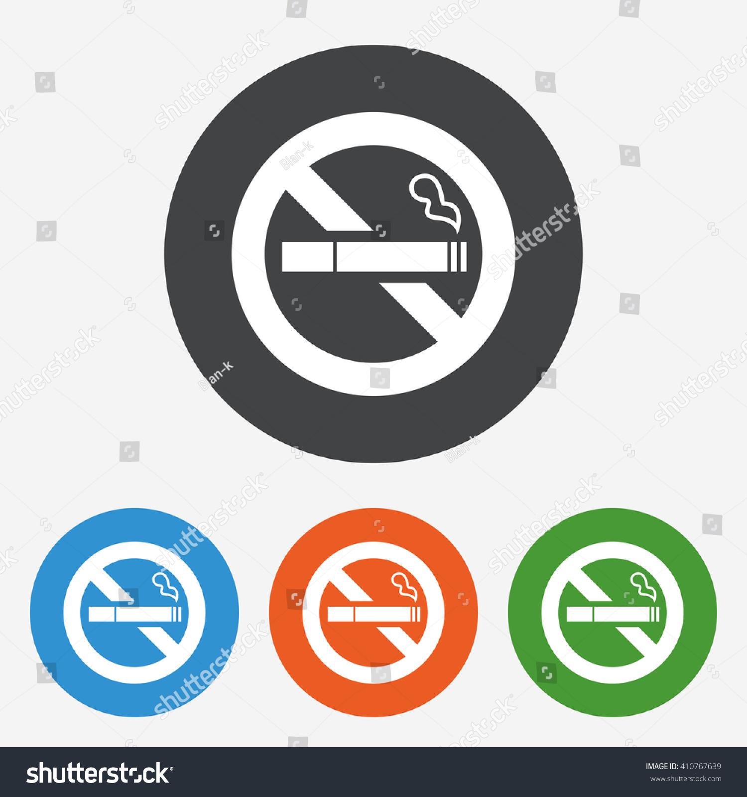 No smoking icon stop smoke symbol stock vector 410767639 shutterstock no smoking icon stop smoke symbol circle buttons with flat sign vector buycottarizona Images