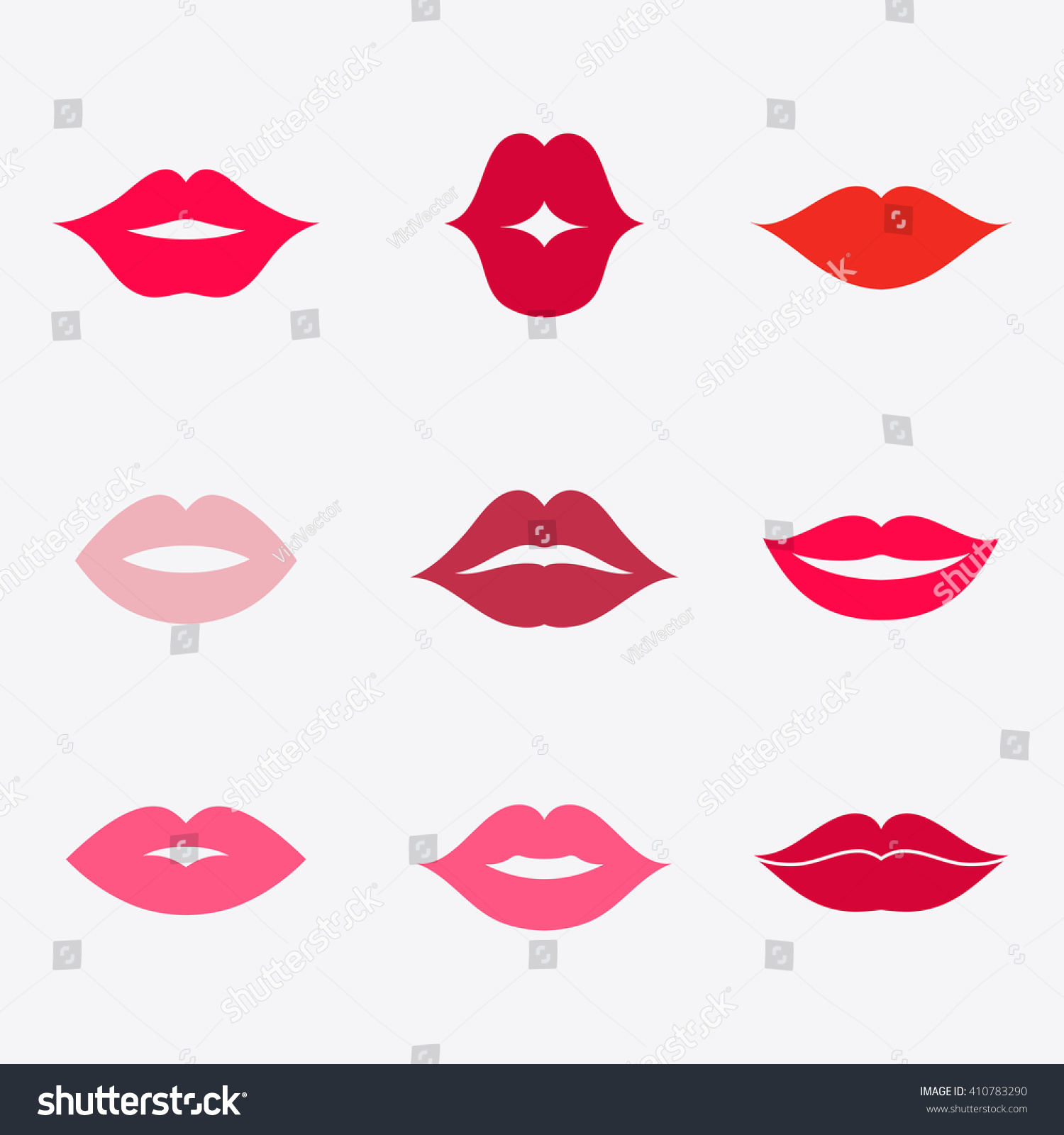 Different Womens Lips Vector Icon Set Stock Vector ...