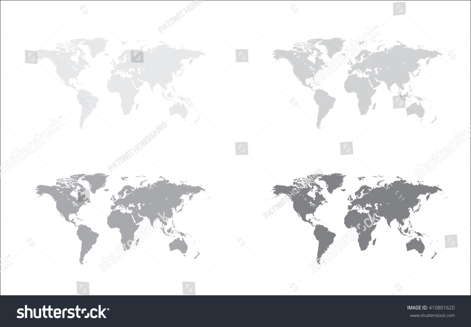 Gray world map world map icon stock vector 410801620 shutterstock gray world map world map icon vector gumiabroncs Images