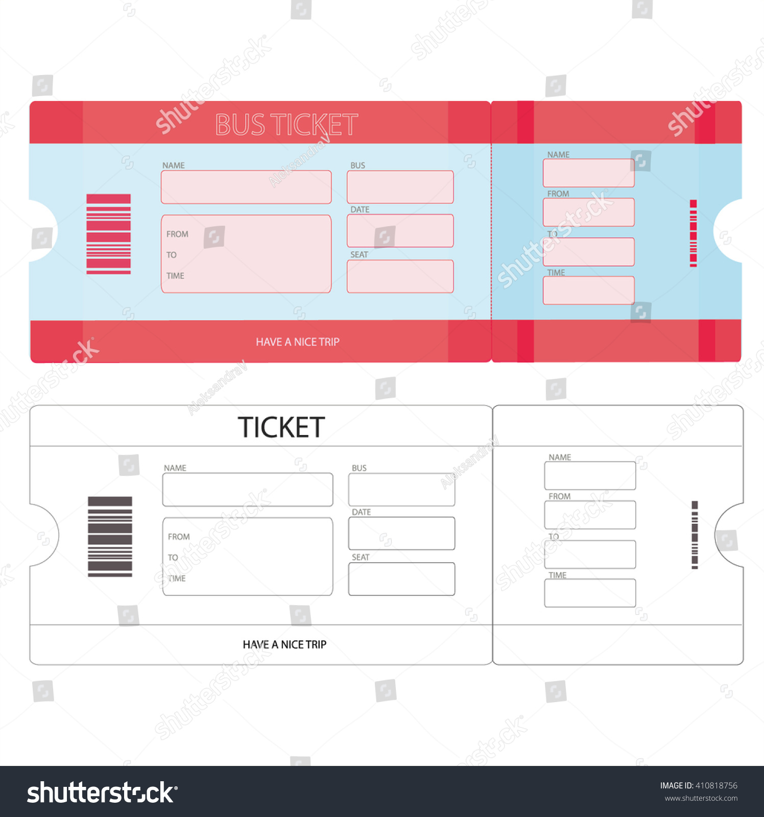 bus ticket template investor contract template free t