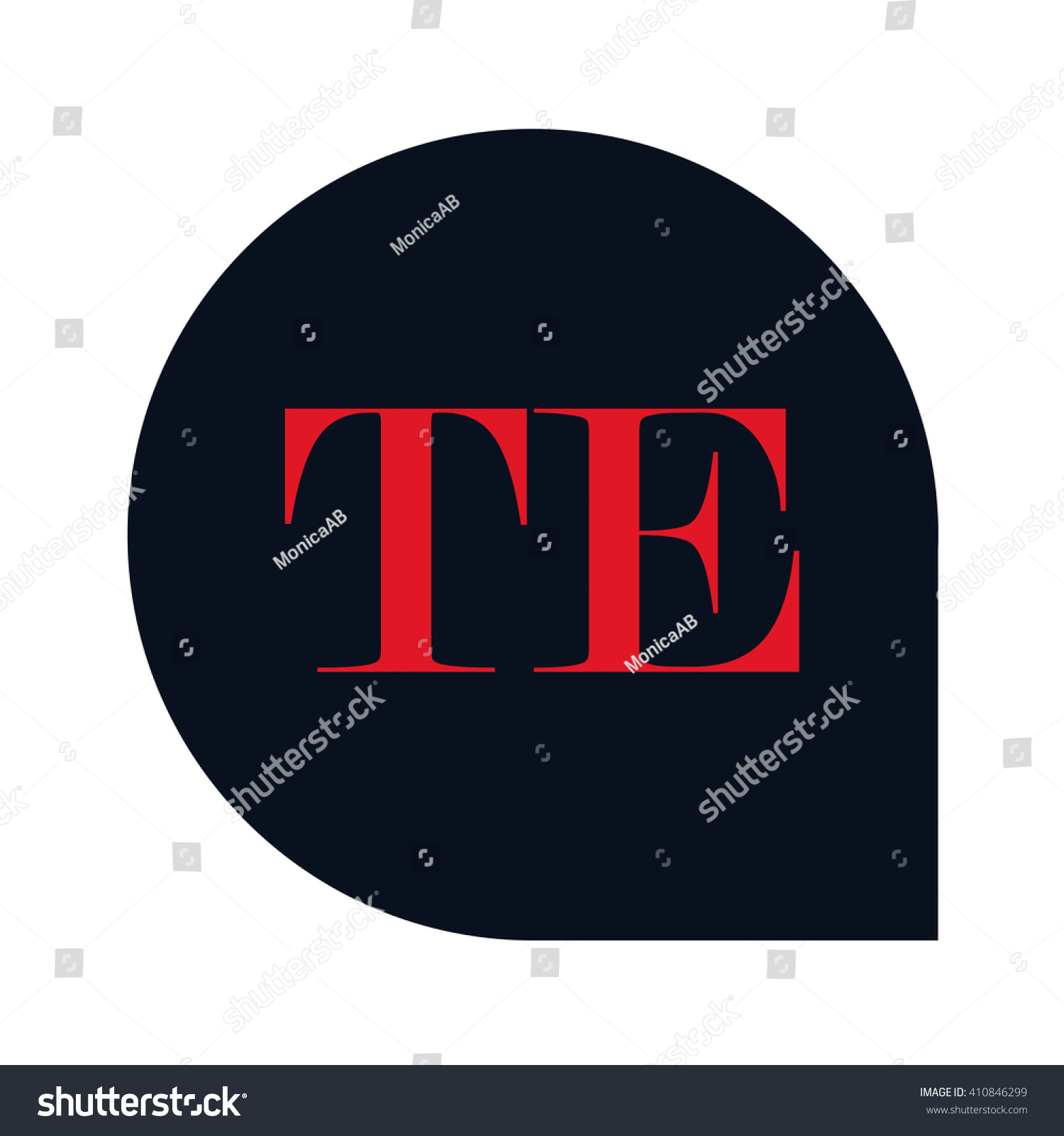 Te Letters Red Abstract Black Background Stock Vector 410846299 ...