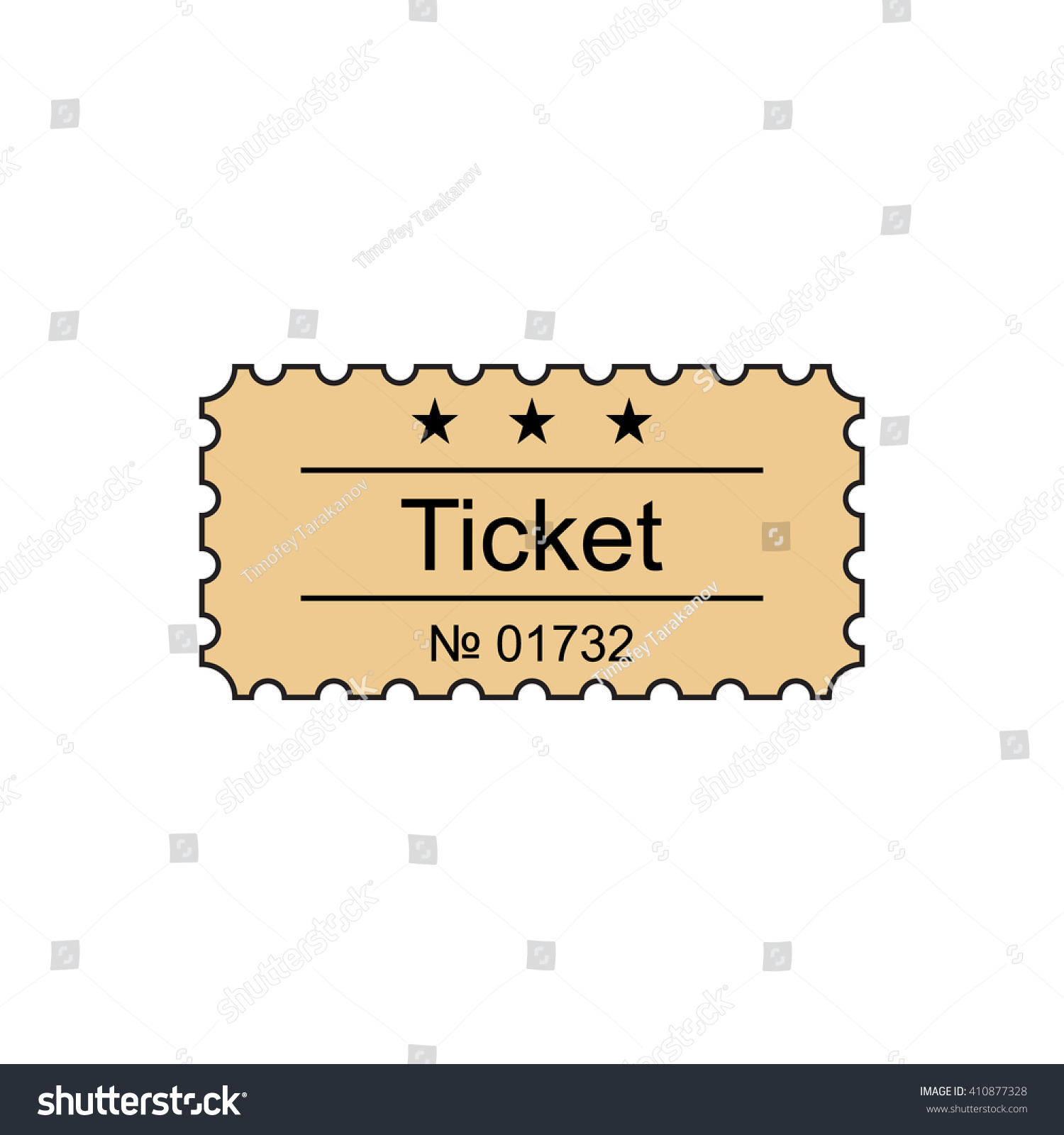 ticket icon outline style ticket vector stock vector  ticket icon in the outline style ticket vector illustration ticket stub isolated on a
