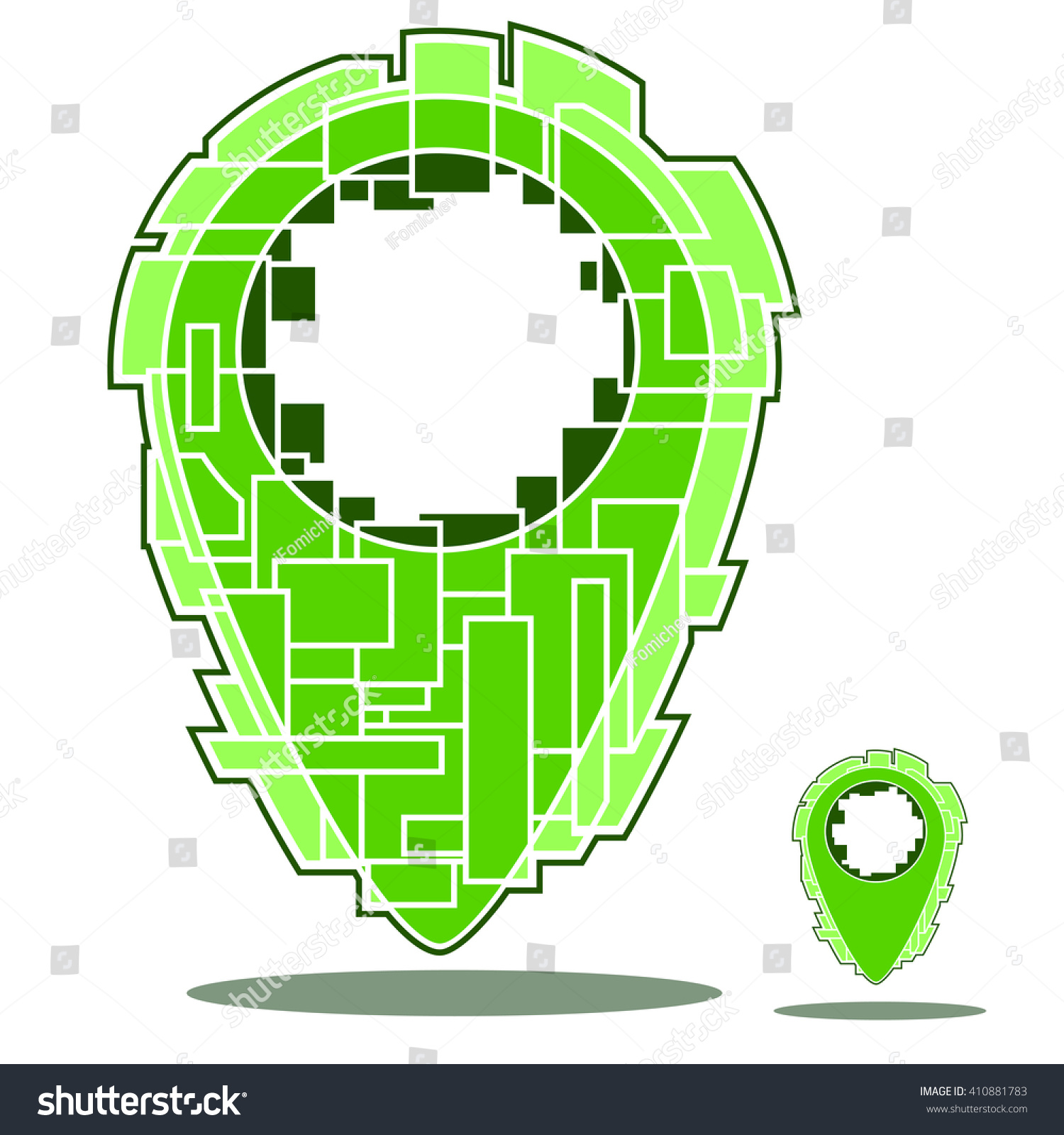 City Map Mark City Map Marker Stock Vector 410881783 Shutterstock