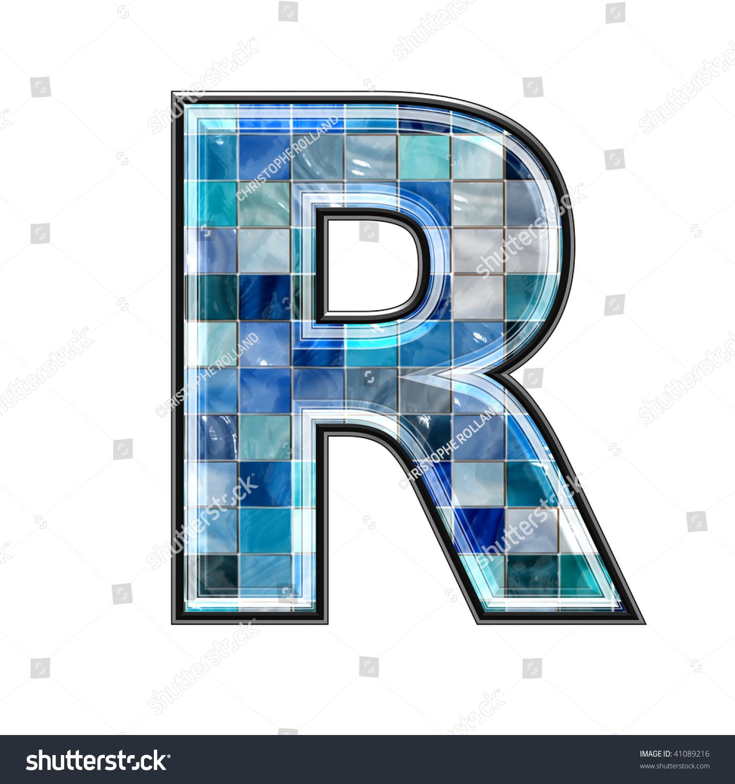 3d letter ceramic tiles texture r stock illustration 41089216 3d letter with ceramic tiles texture r doublecrazyfo Gallery