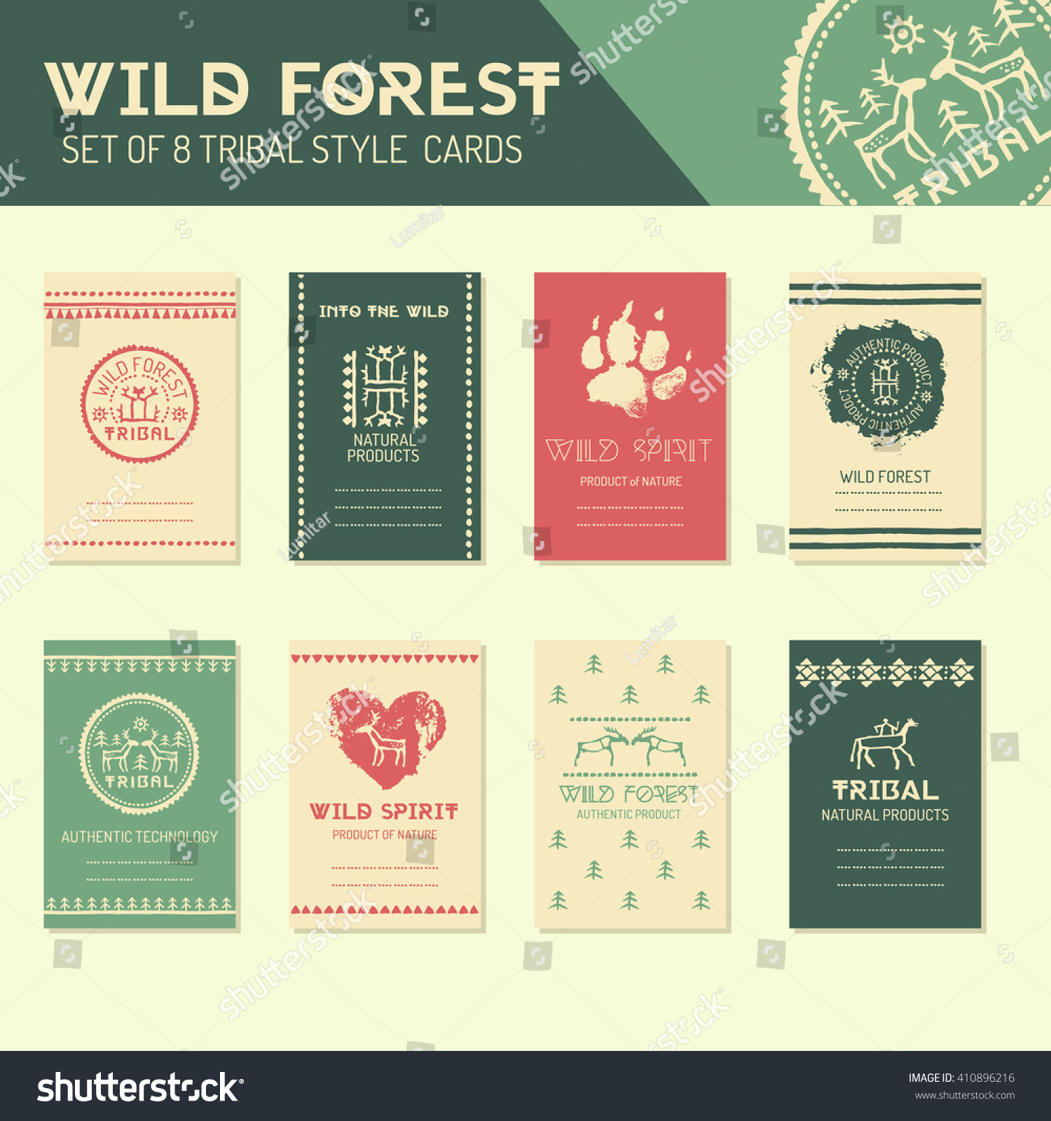 Ethnic Style Business Template Collection Tribal Stock Vector ...