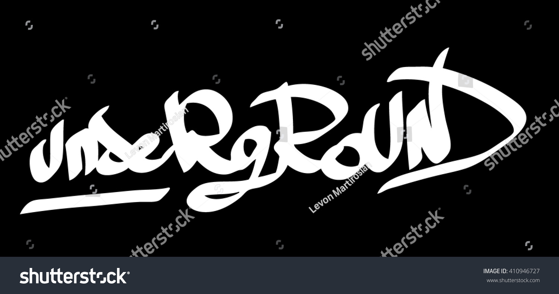 Graffiti vector tag underground on a black background vector art