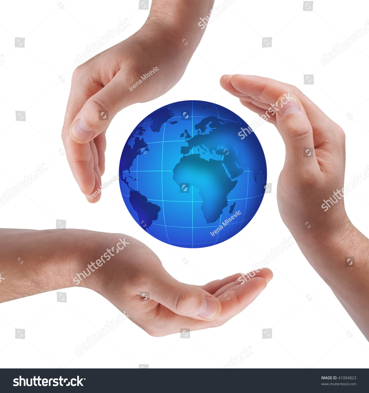 Conceptual Safety Symbol Made Hands Over Stock Photo Royalty Free