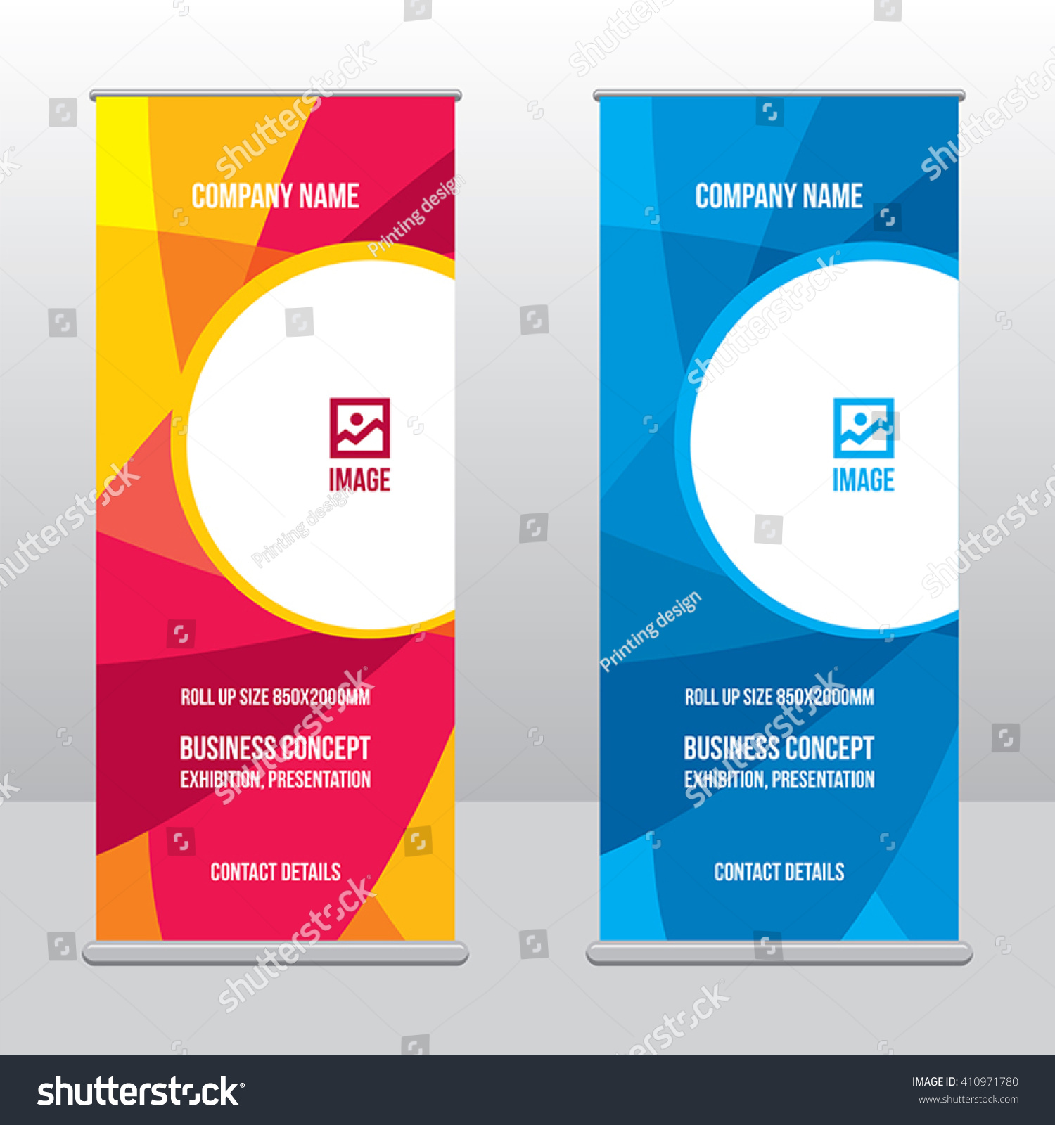 Modern Exhibition Stand Vector : Banner rollup design business concept graphic stock vector