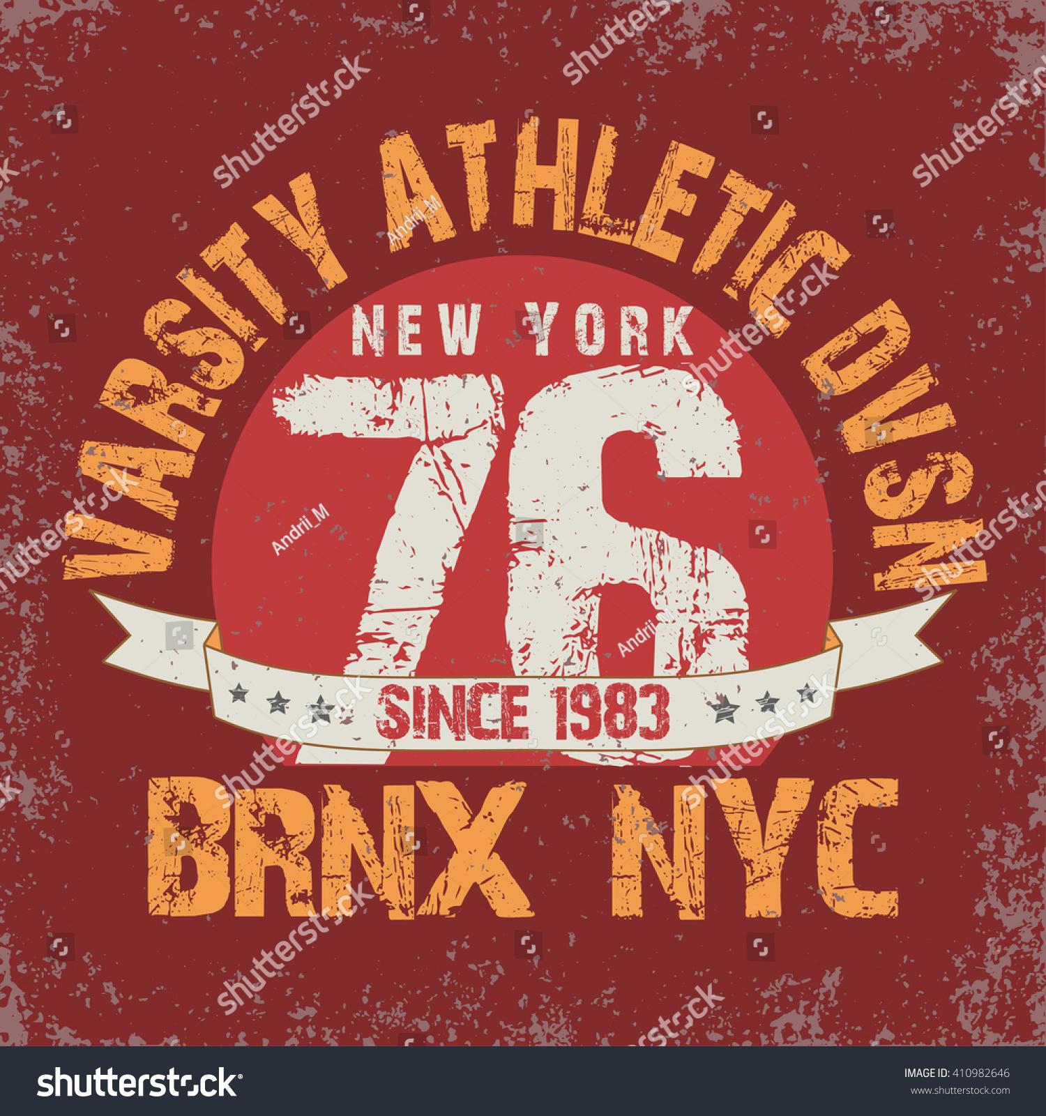 Shirt design nyc - New York College T Shirt Design Print New York City Typography Graphics New