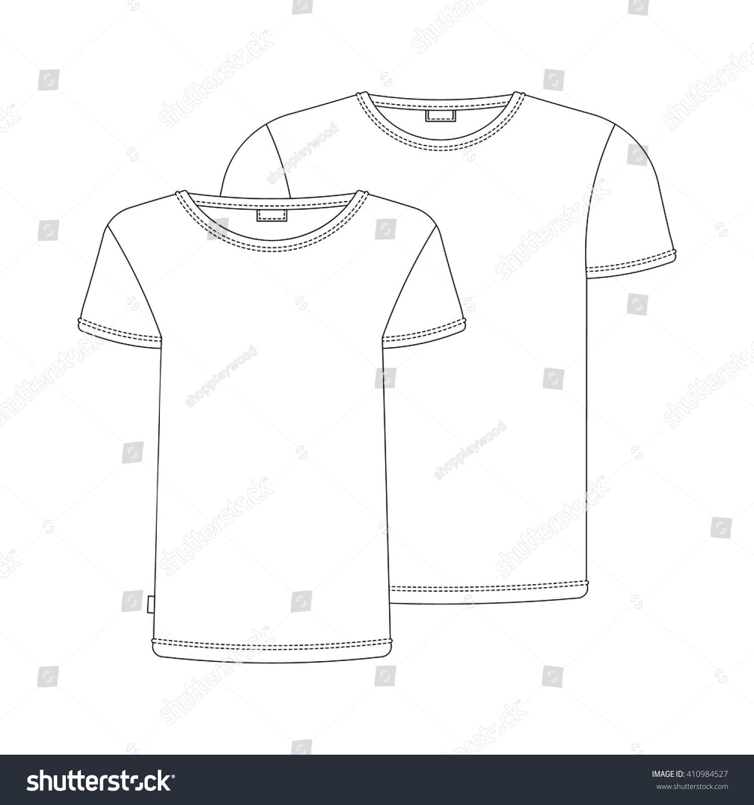 White t shirt for design - Vector T Shirt Template Vector T Shirts Isolated On White Vector White