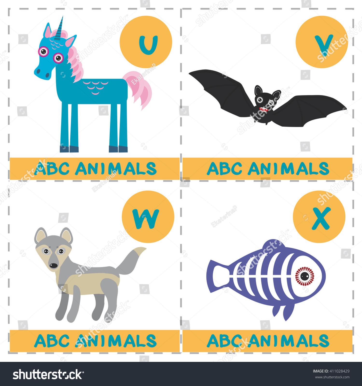 abc alphabet kids set funny xray stock vector 411028429 shutterstock