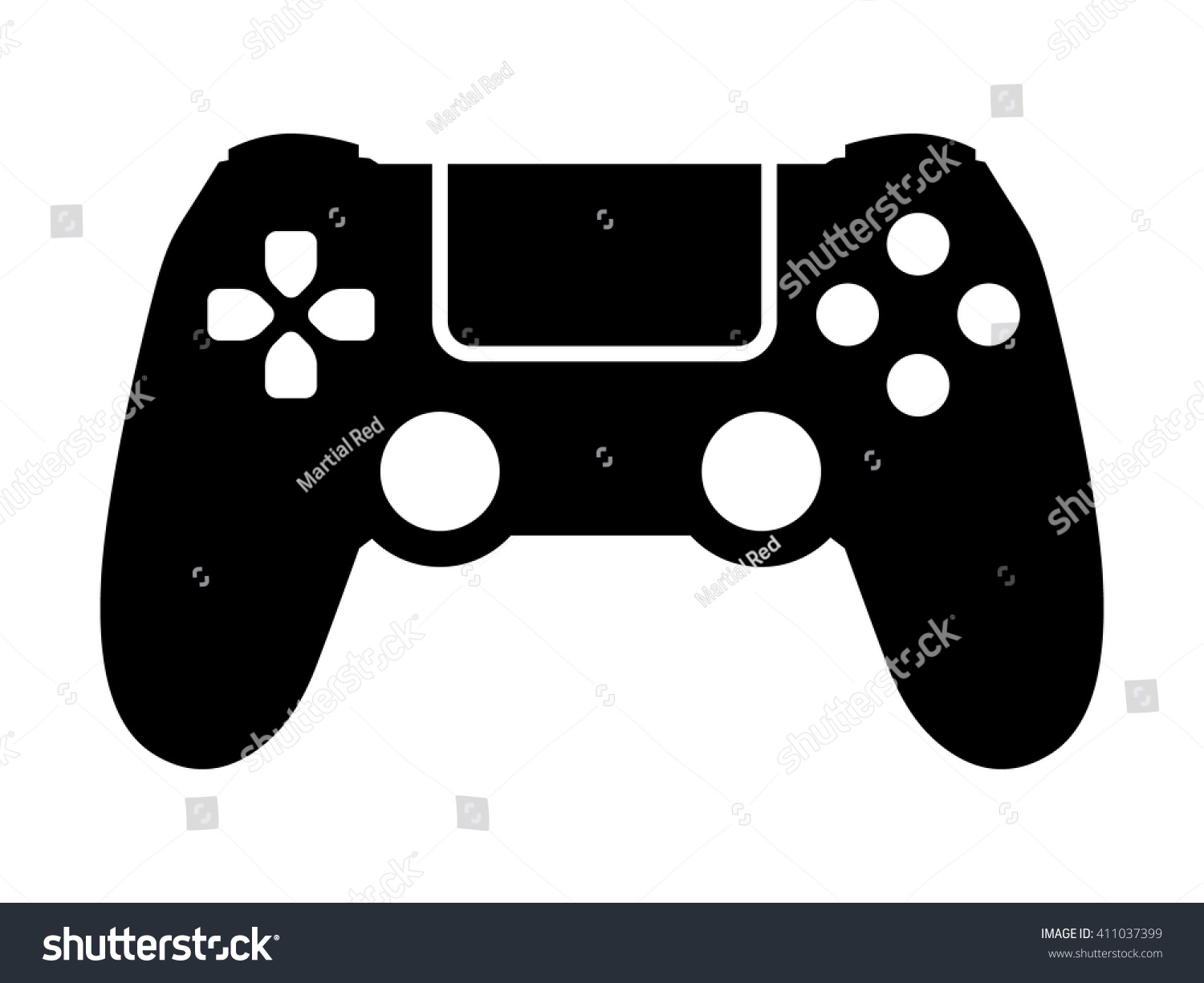 Video Game Controller Gamepad Flat Icon Stock Vector ...