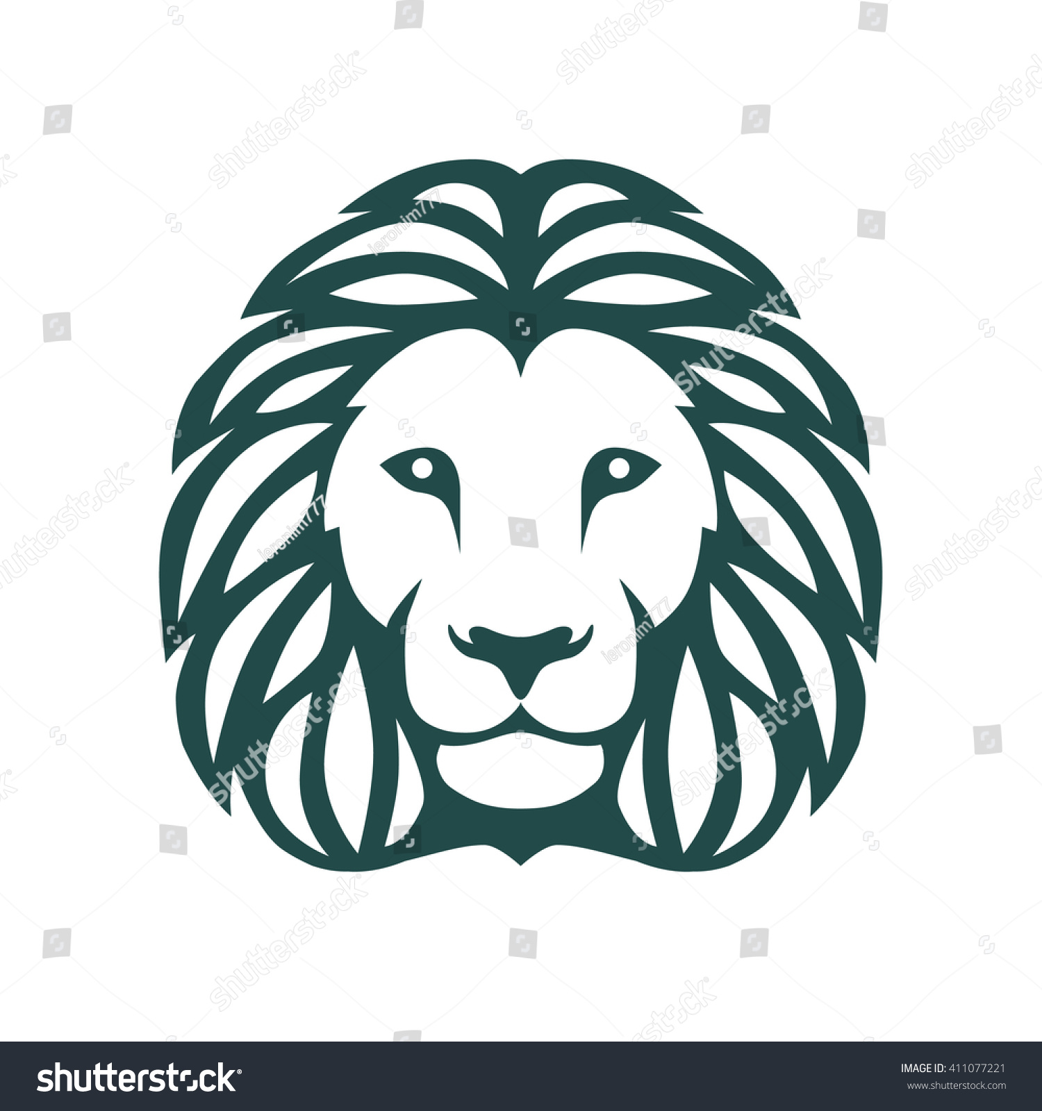 graphic illustration lions head stock vector 411077221 shutterstock