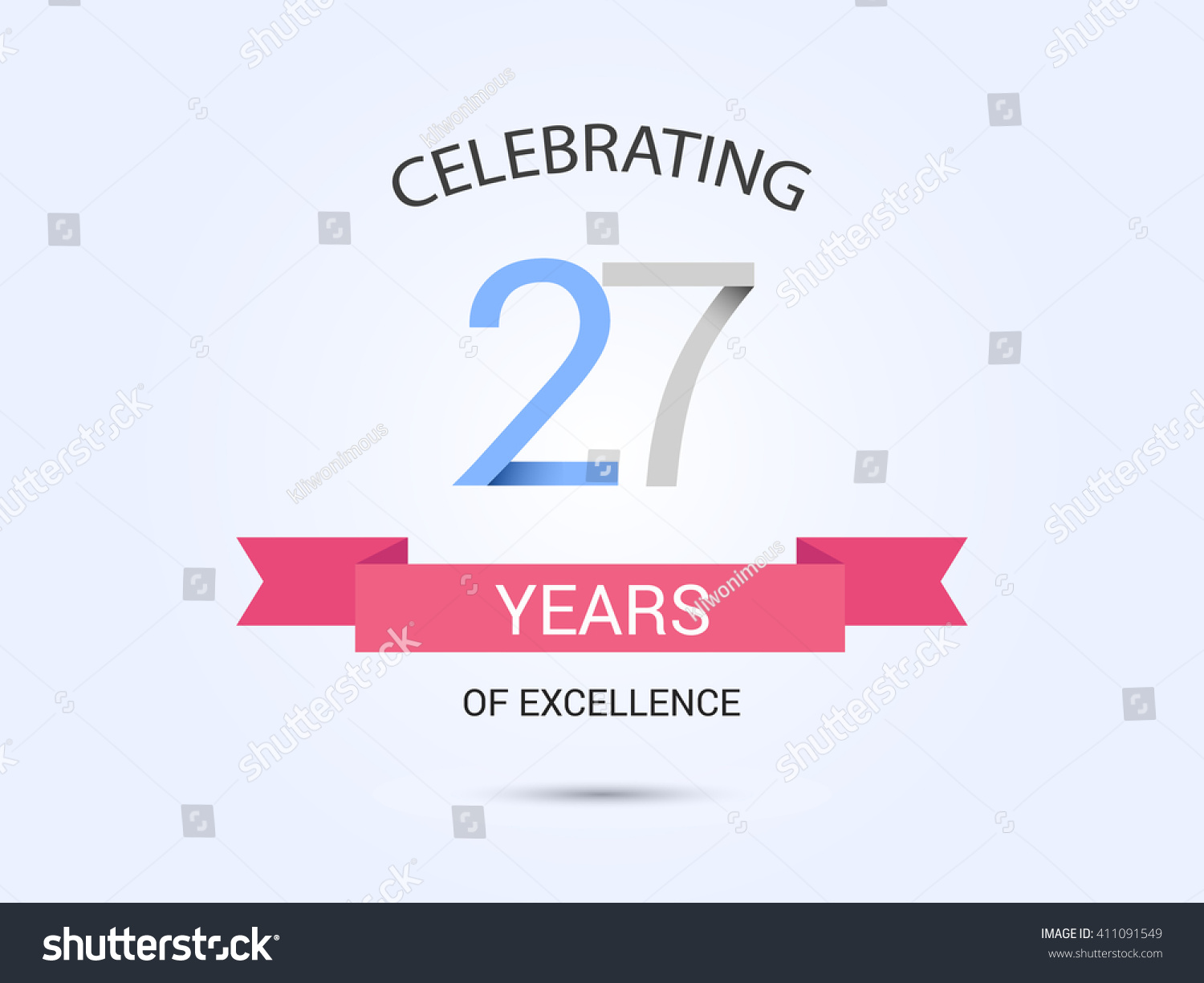 27 years anniversary signs symbols simple stock vector 411091549 27 years anniversary signs symbols simple design with red ribbon biocorpaavc Images