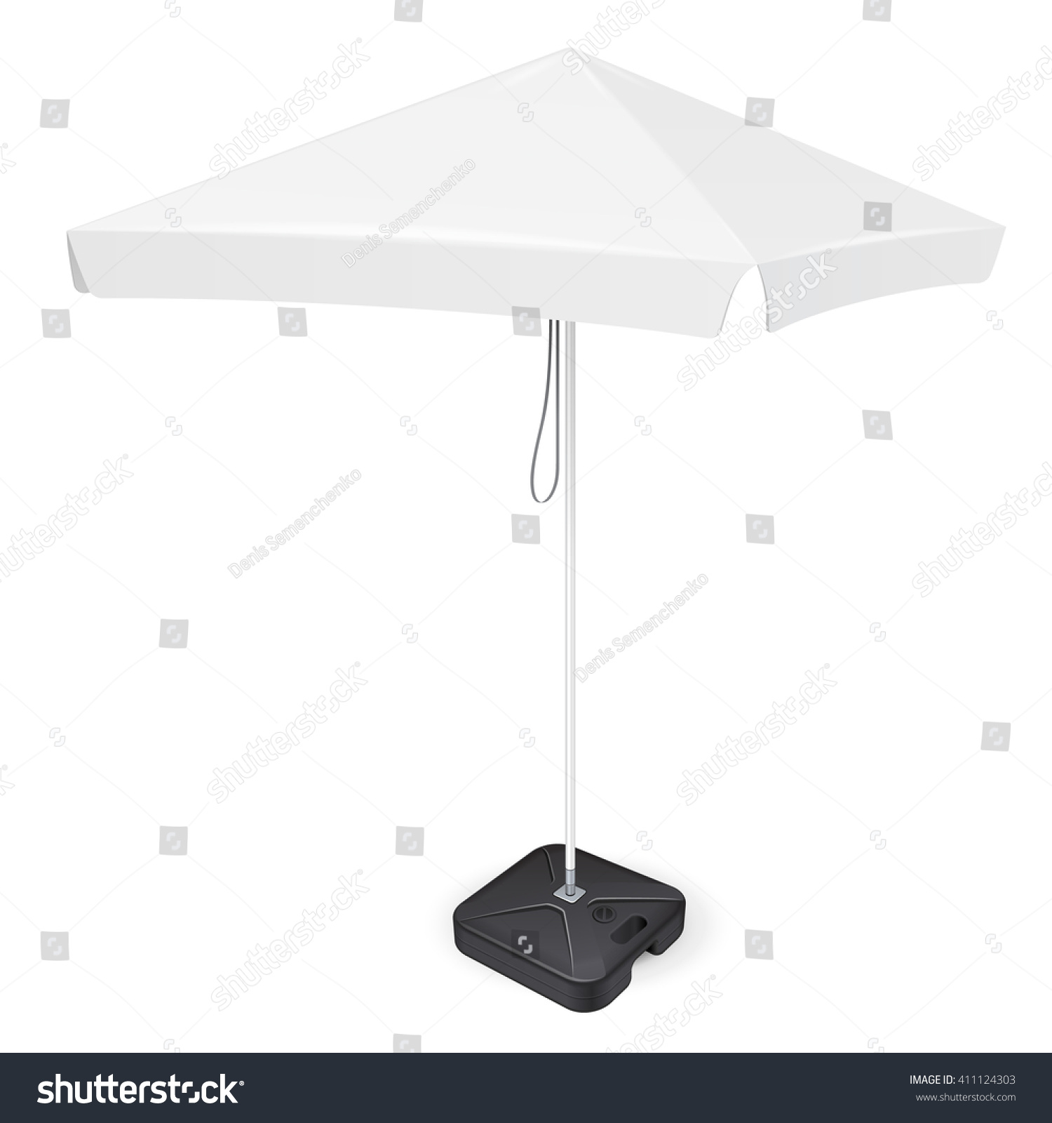 Promotional Square Advertising Outdoor Garden White Vector – Umbrella Template