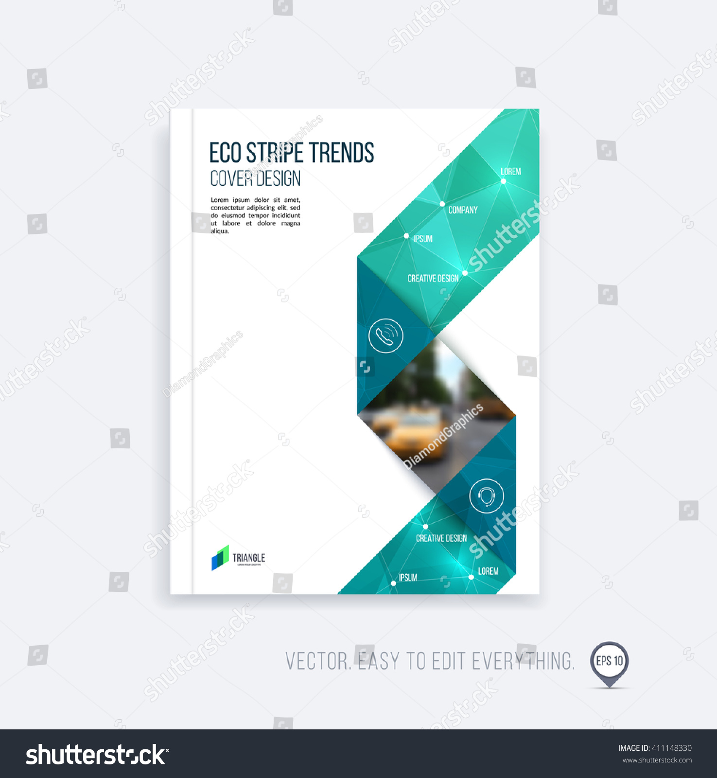 Royaltyfree Brochure template layout cover design 411148330 – Emerald Flyer Template