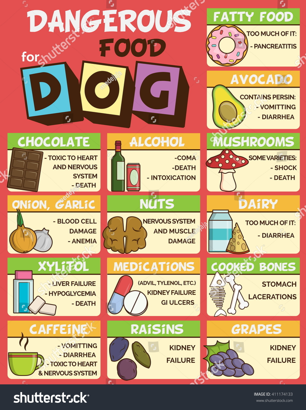Infographic Poster About Food Snacks That Stock Vector 411174133 ...