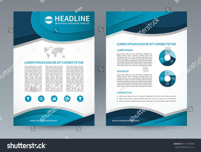 business brochure flyer design template a 4 stock photo photo