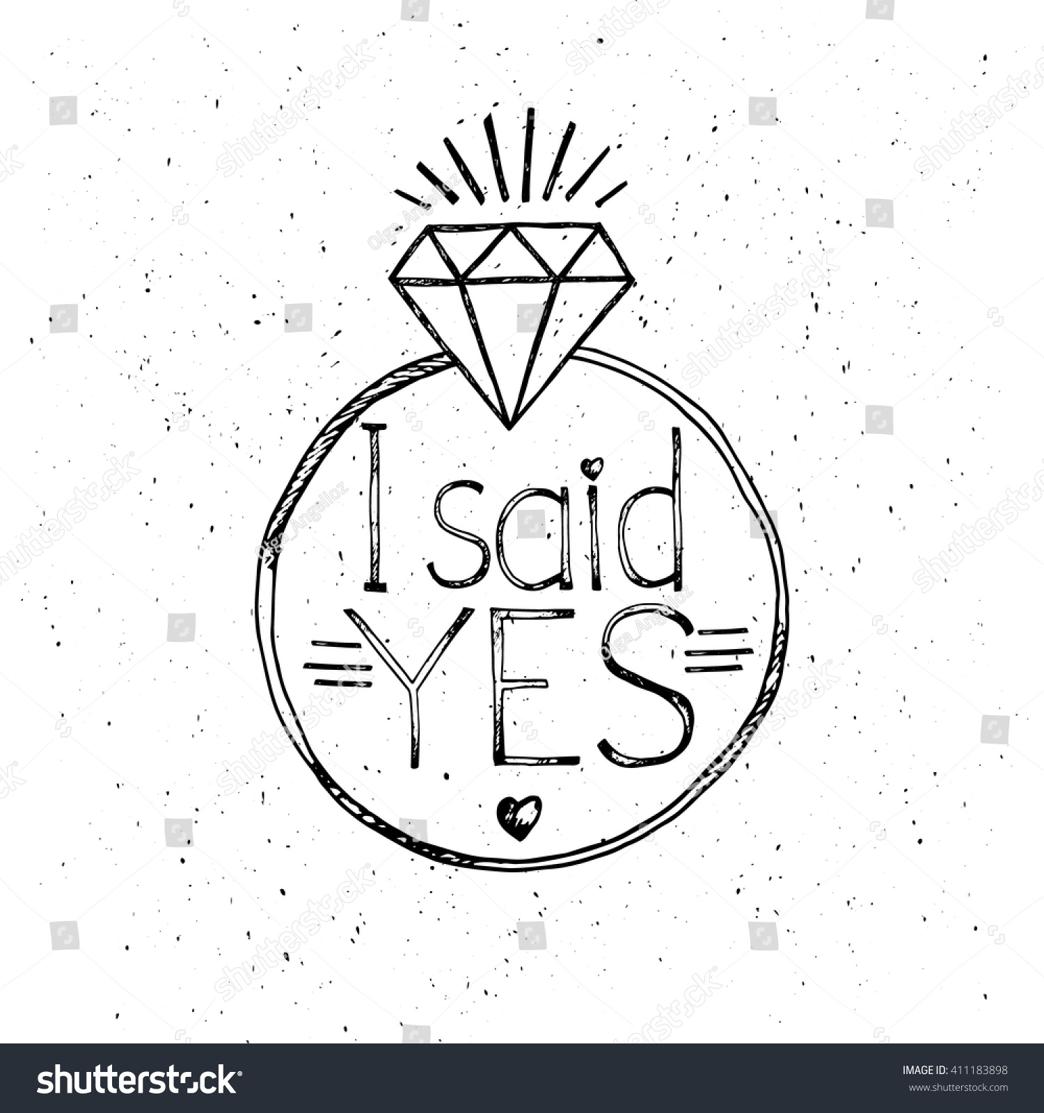 Said Yes Fashion Quote Design Tshirt Stock Vector (Royalty ...