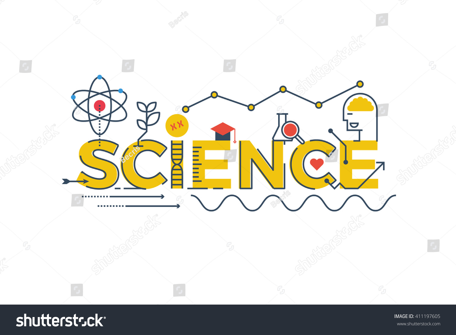 Stock vector illustration of science word in stem science technology - Illustration Science Word Stem Science Technology Stock