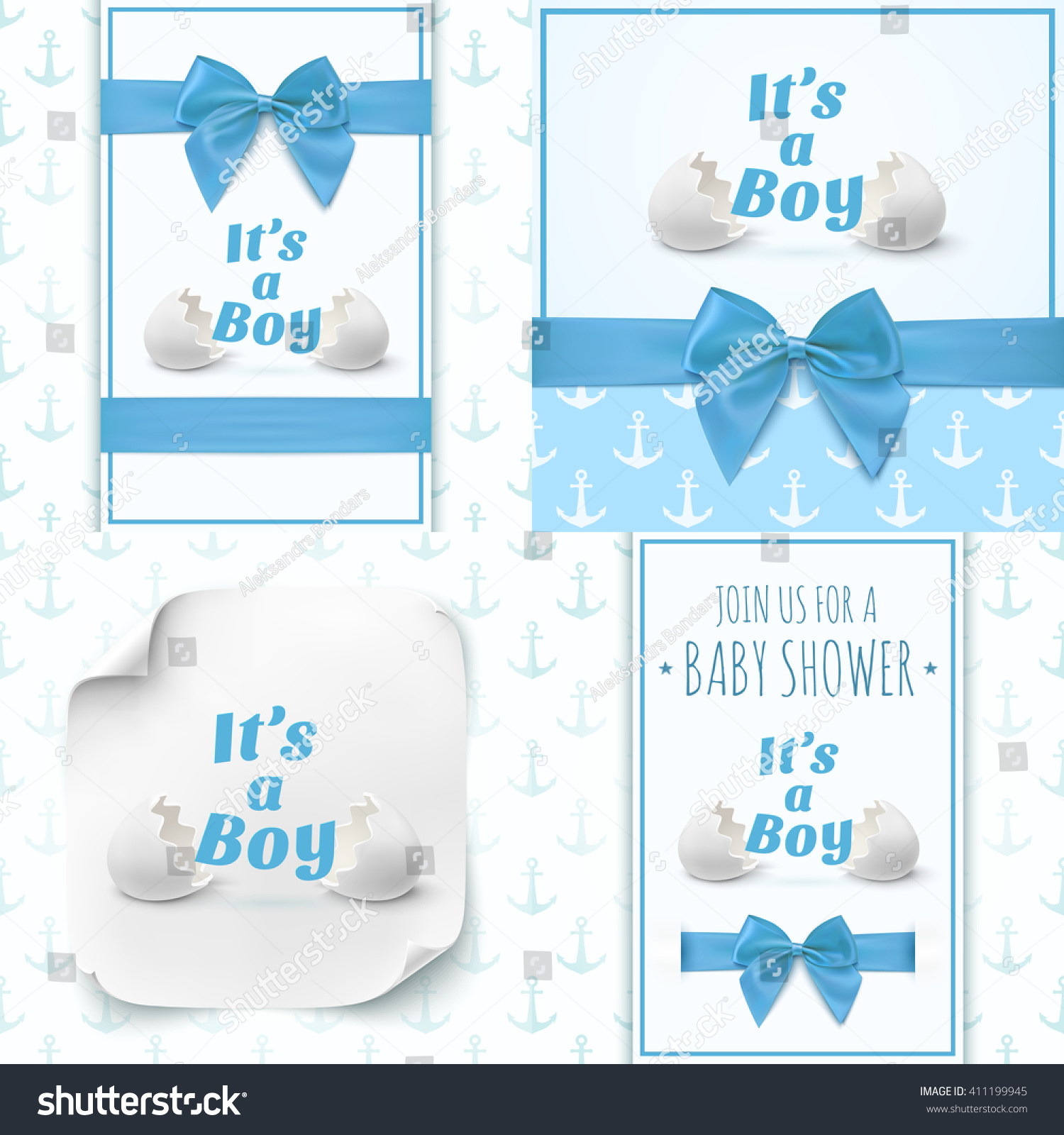 baby boy announcements templates