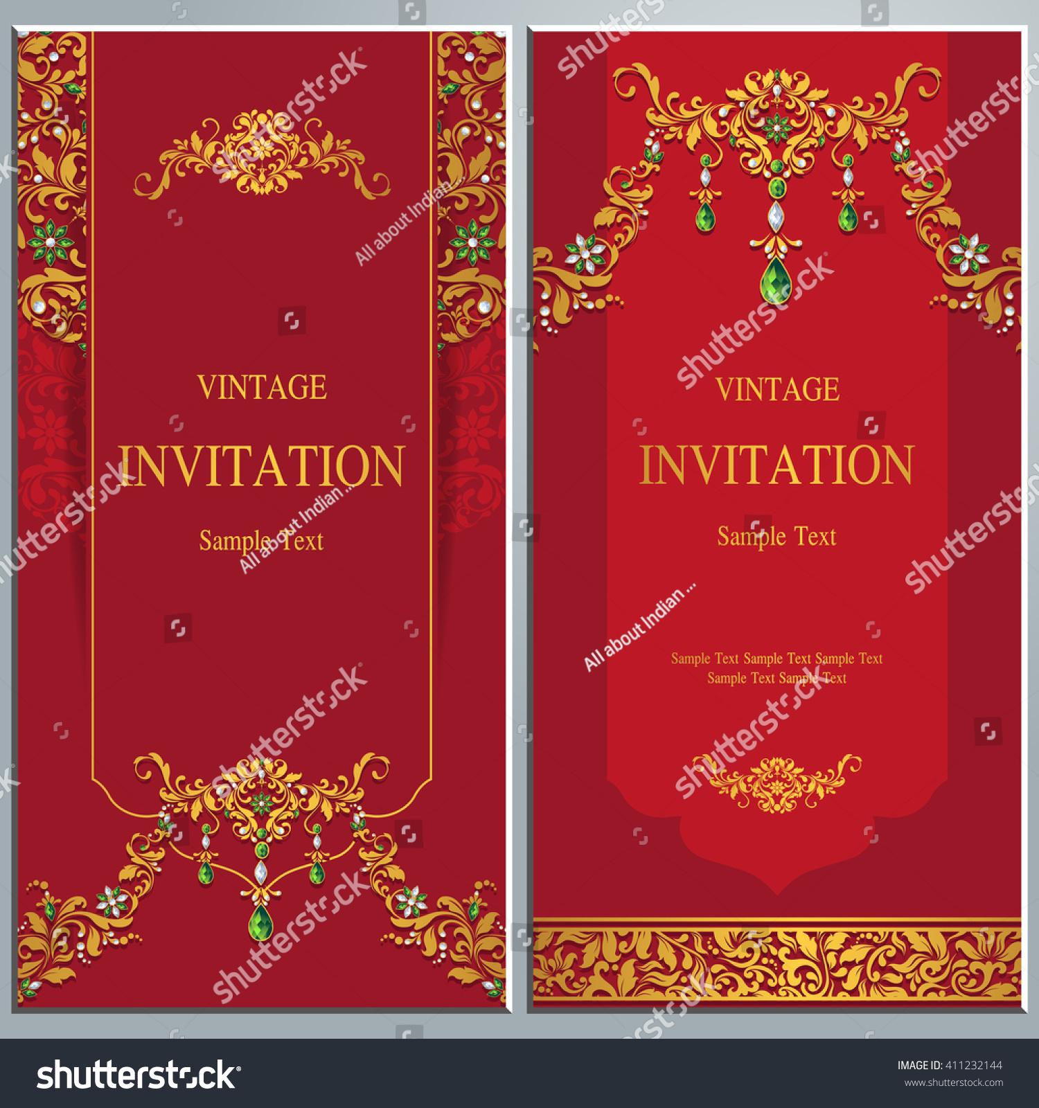 Elegant Save The Date card design. Vintage floral invitation card ...