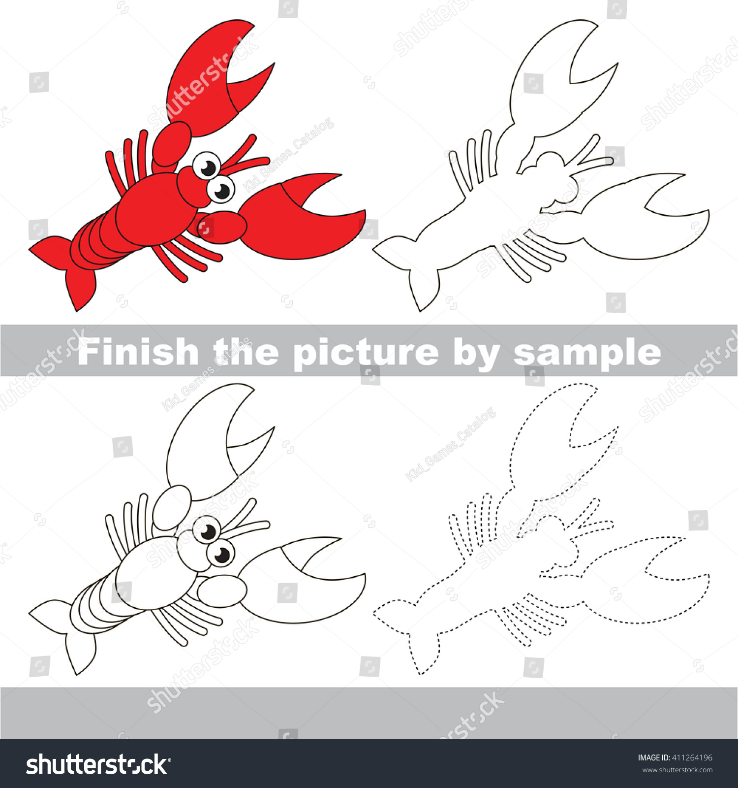 Balancing Redox Reactions Worksheet Drawing Worksheet Children Finish Picture Draw Stock Vector  Map Worksheets 2nd Grade with Conversion Of Metric Units Worksheet Excel Drawing Worksheet For Children Finish The Picture And Draw The Cute Lobster Grade 5 Maths Worksheets Printable Word