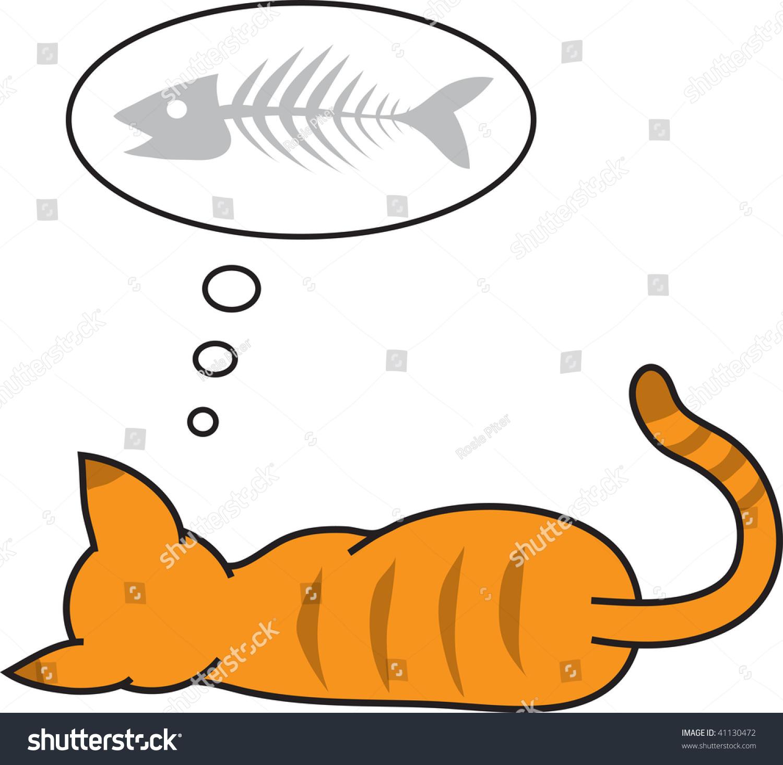 clip art illustration cat dreaming fish stock illustration 41130472 rh shutterstock com kid dreaming clipart dreaming clip art free