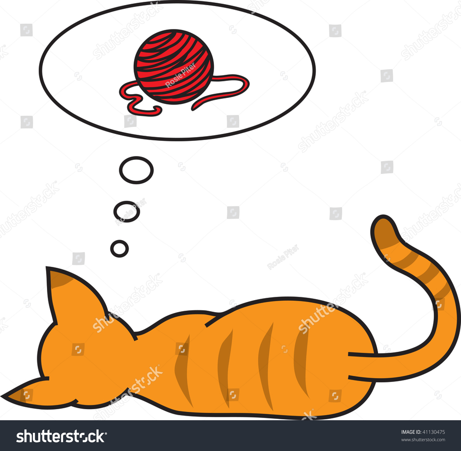 clip art illustration cat dreaming ball stock illustration 41130475 rh shutterstock com girl dreaming clipart daydreaming clipart