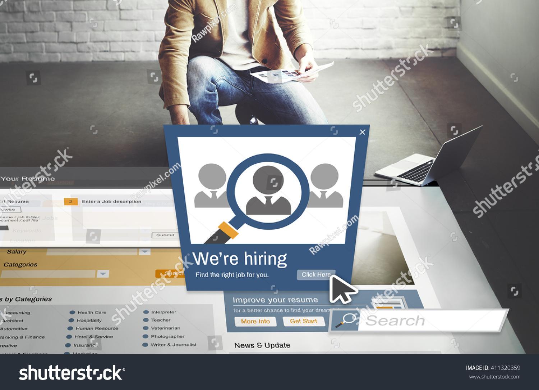 we hiring career headhunting job occupation stock photo  we are hiring career headhunting job occupation concept