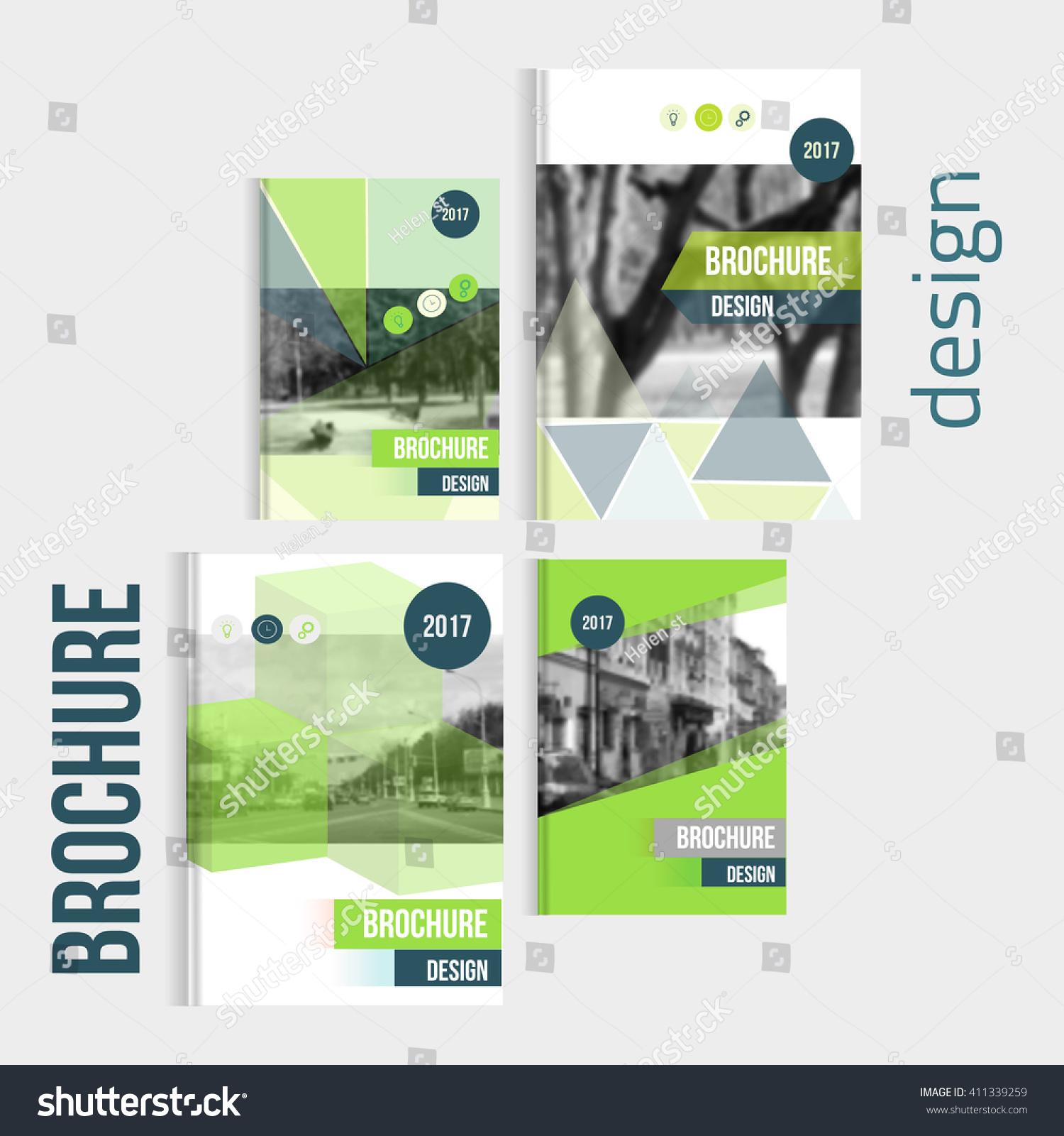 Set Vector Brochure Cover Templates Blured Vector de stock (libre de ...