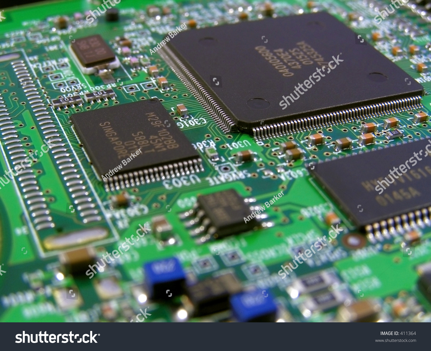 Printed Circuit Board On Graphics Card Stock Photo Edit Now 411364 What Is The Name Of A