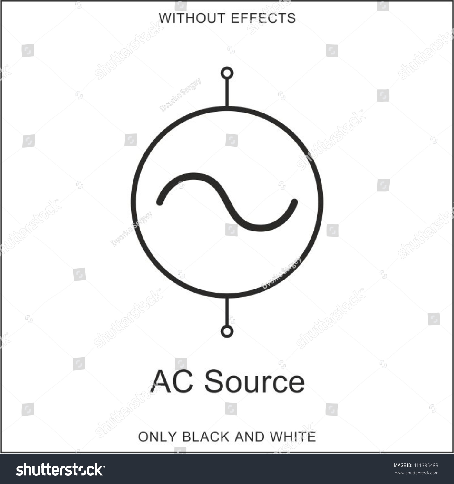 Symbol Ac Source Stock Vector (2018) 411385483 - Shutterstock