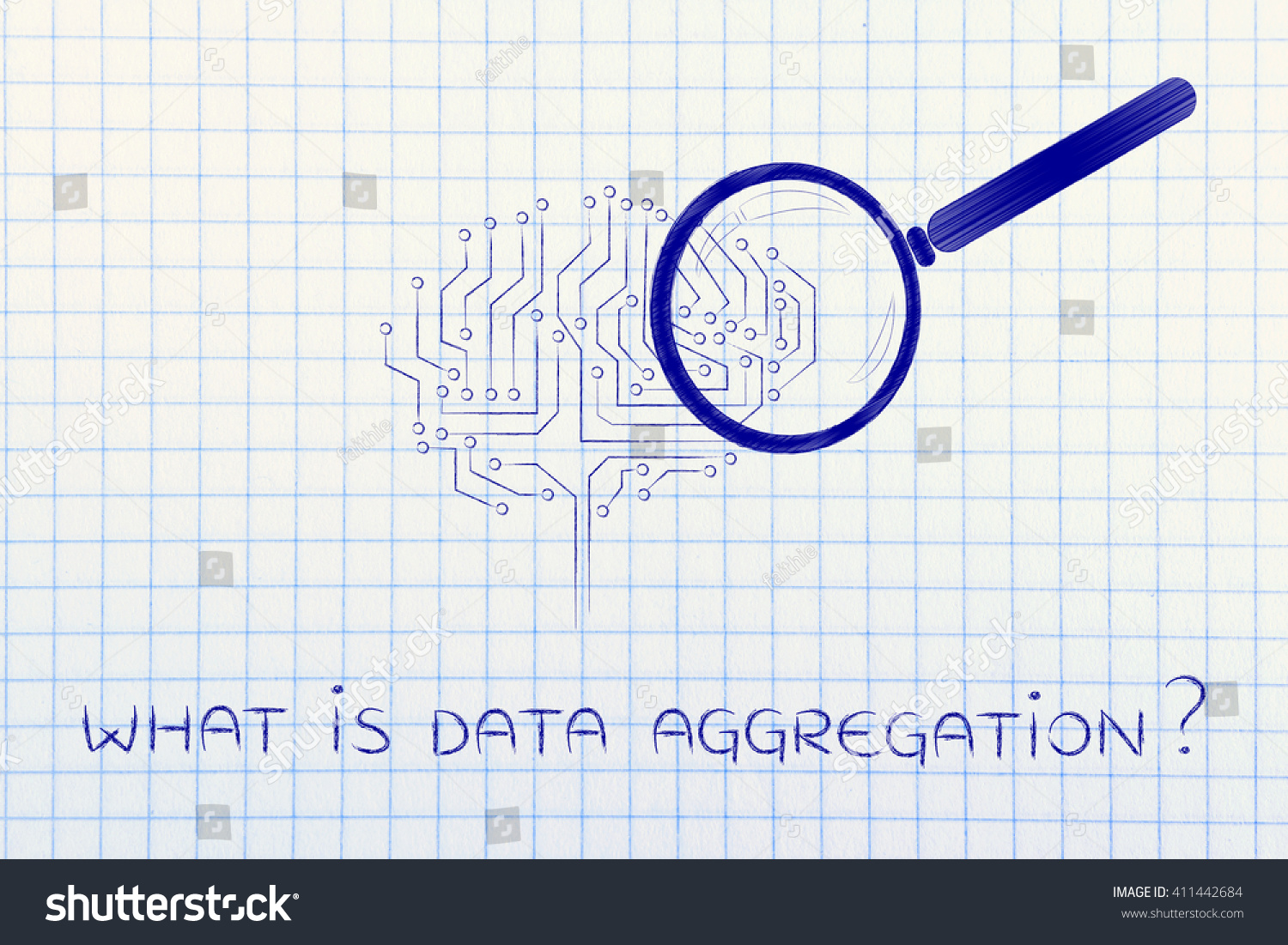 What Data Aggregation Magnifying Glass Analyzing Stock Illustration Are Electronic Circuit Is An Brain