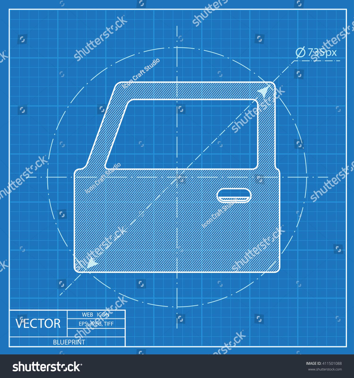 blueprint door icon u0026 door blueprint symbol