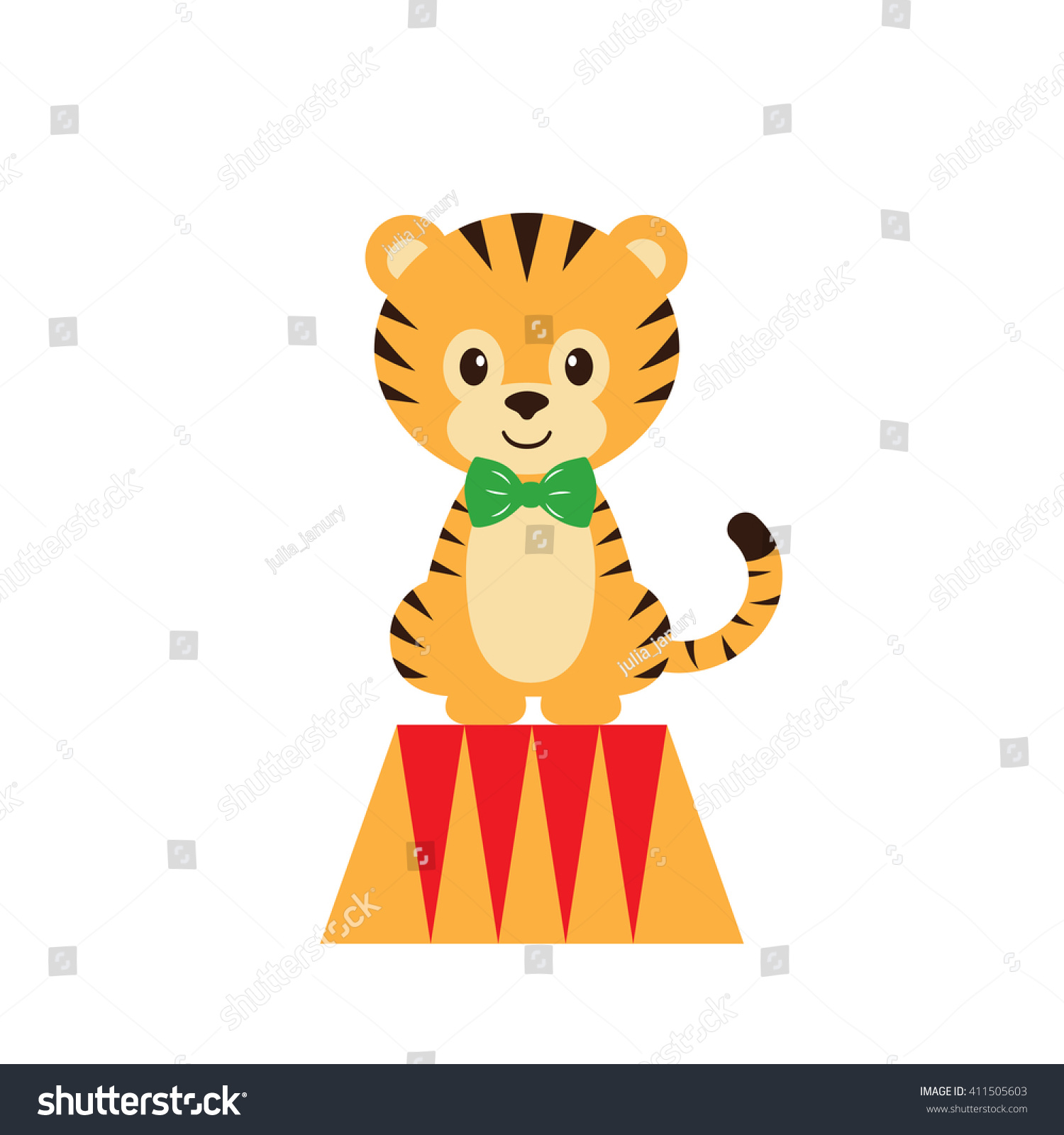 Circus Tiger Stock Vector (Royalty Free) 411505603 - Shutterstock