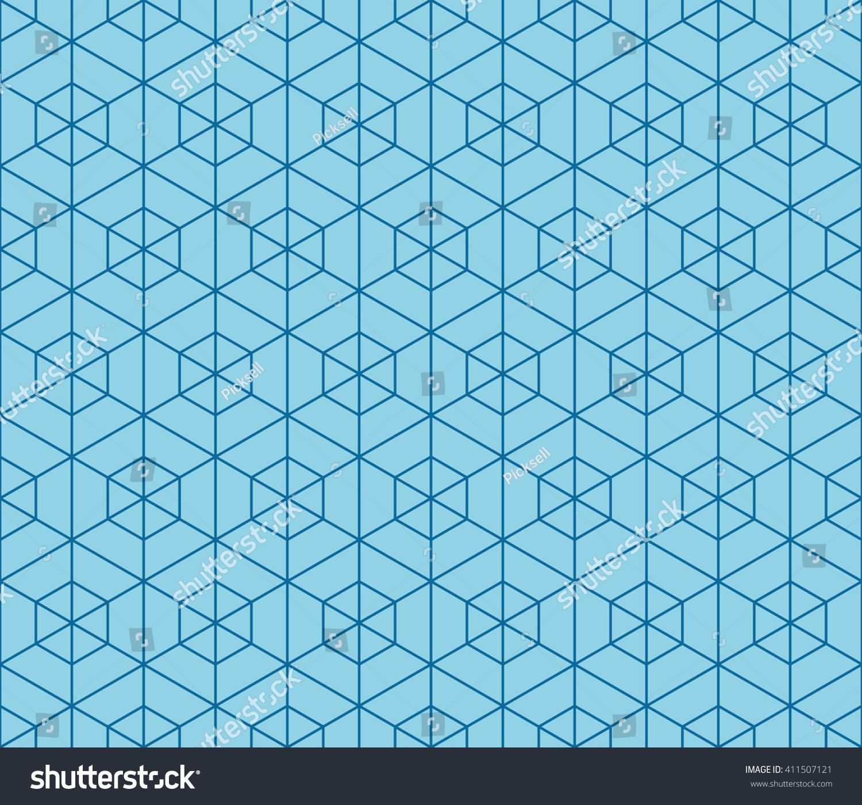 blue hexagonal pattern vector - photo #13