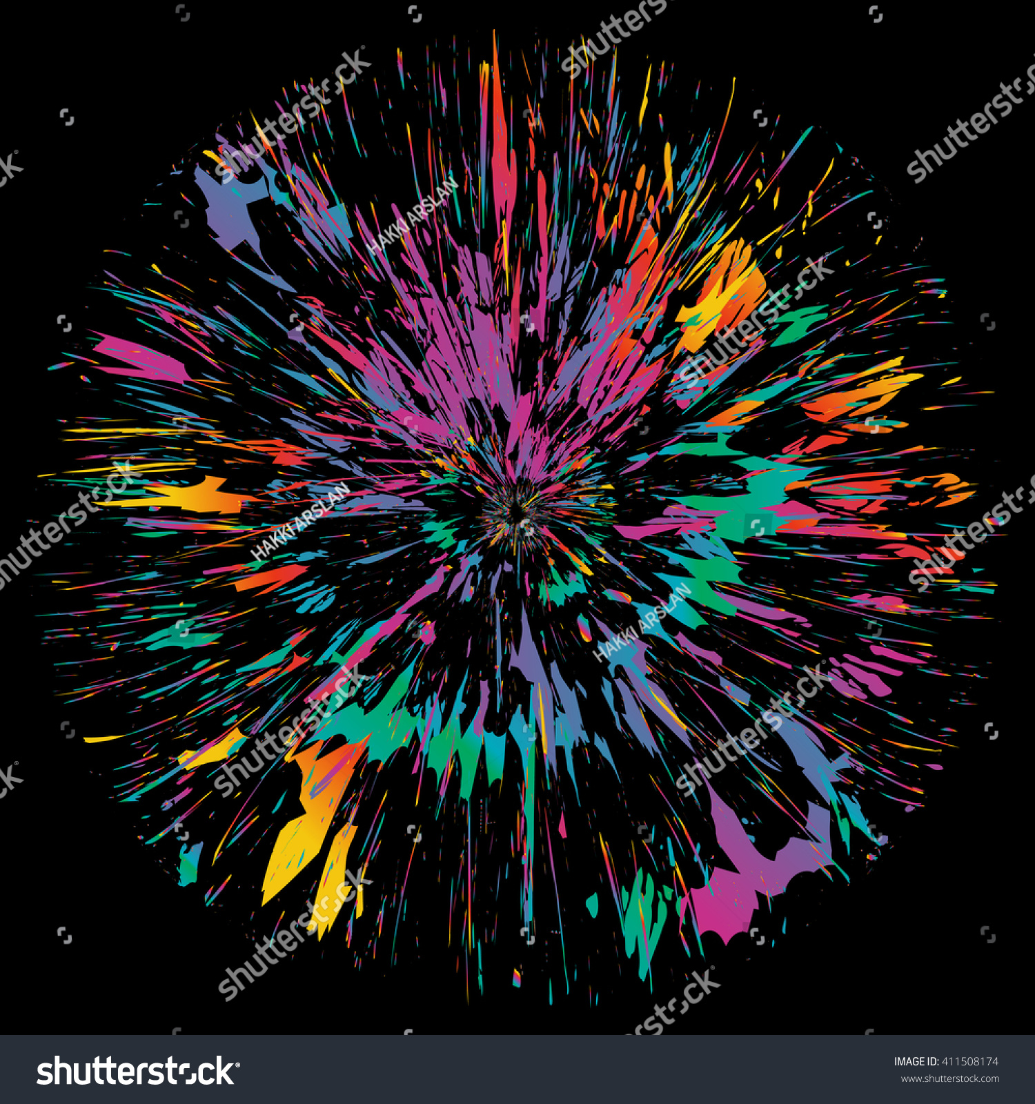 Abstract Color Splash Isolated Flower Illustration Stock Vector Photography Ballons Tumblr