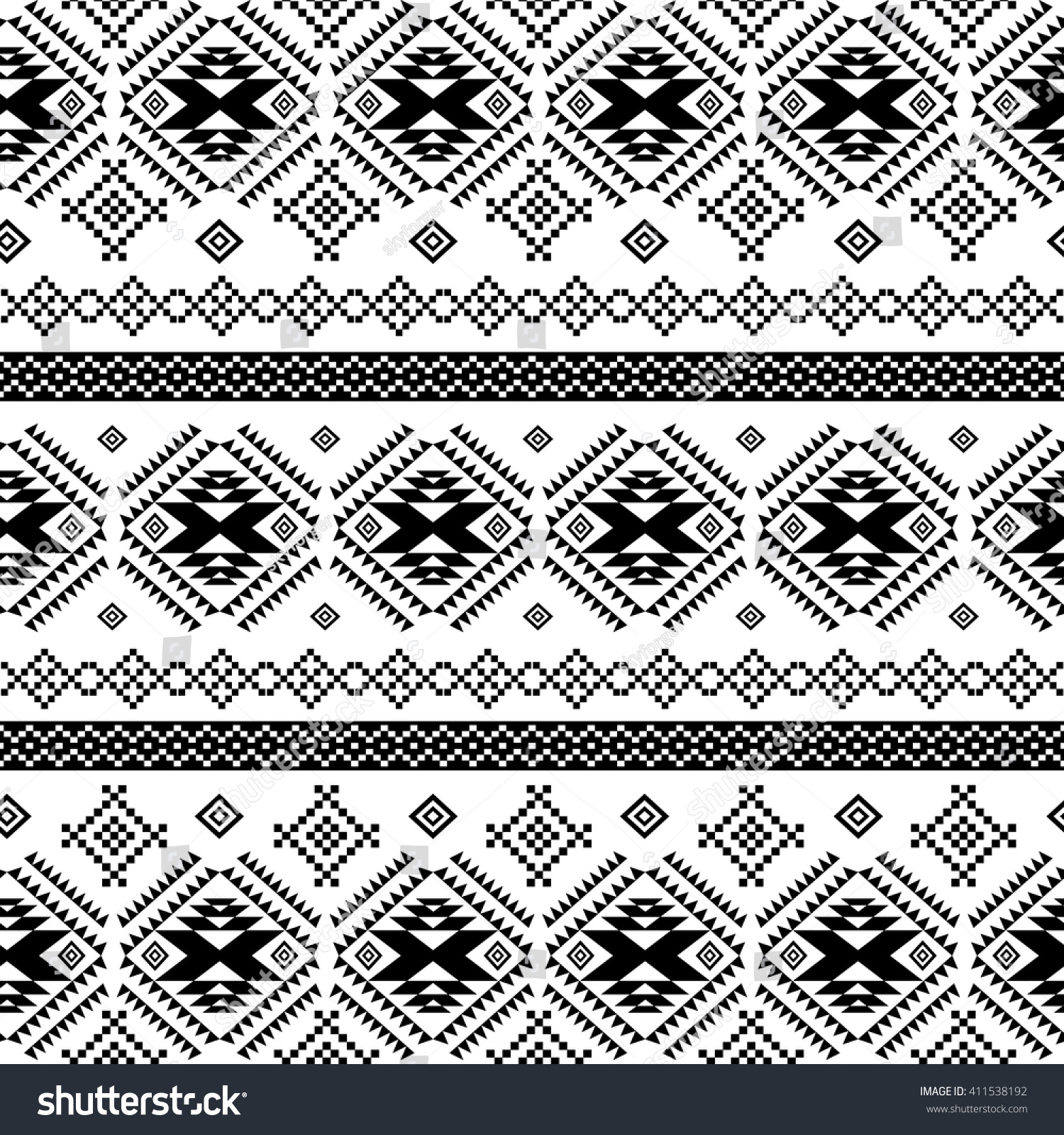 Background geometric mexican patterns seamless vector zigzag maya - Seamless Ethnic Textile Pattern Background With Geometric Aztec Maya Peru Mexican Tribal