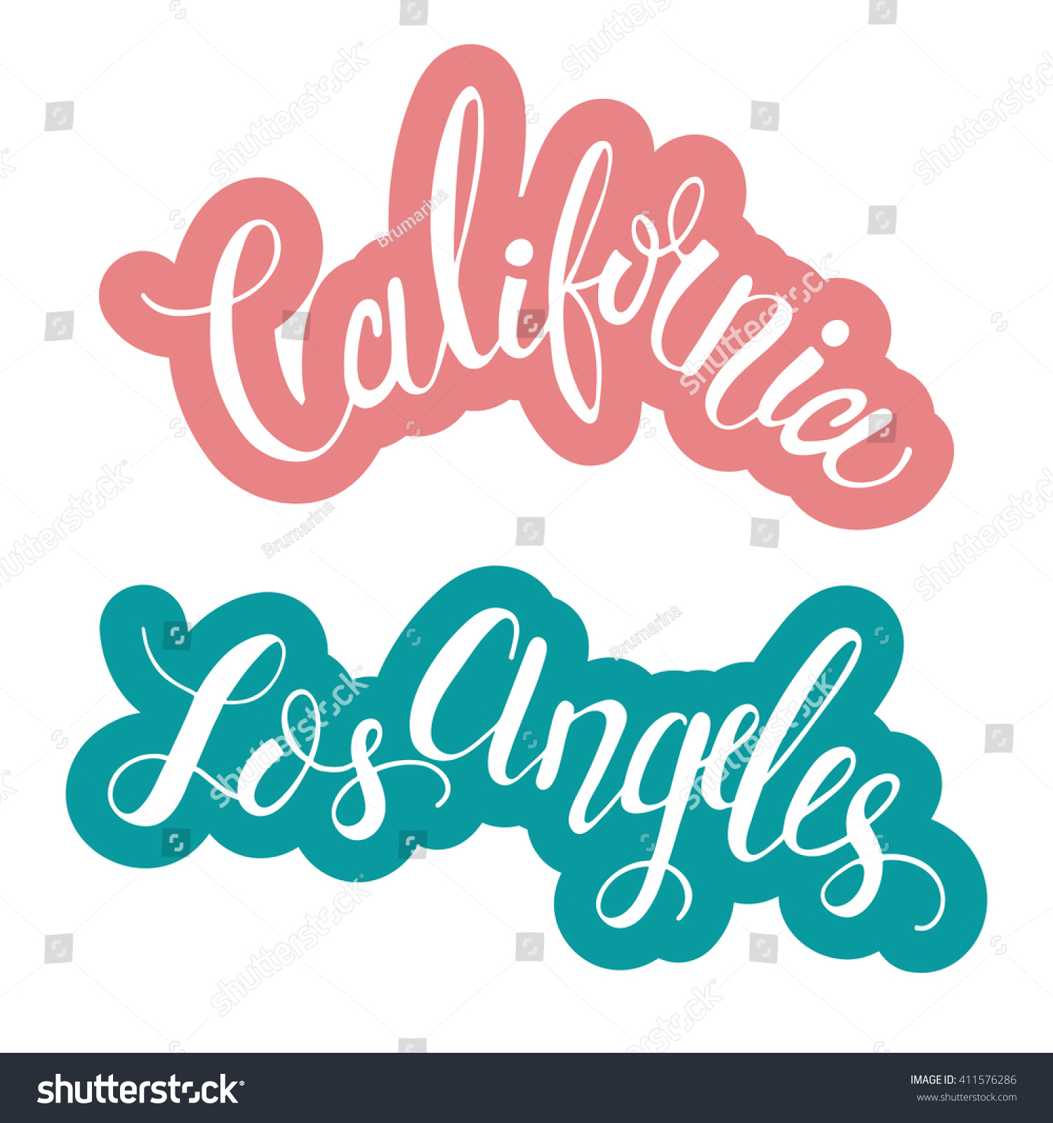 Design t shirts los angeles - Conceptual Hand Drawn Phrases California And Los Angeles Lettering Design For Posters T
