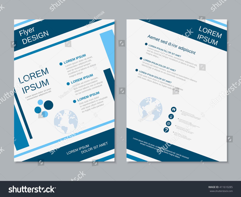 twosided business flyer vector design booklet stock vector