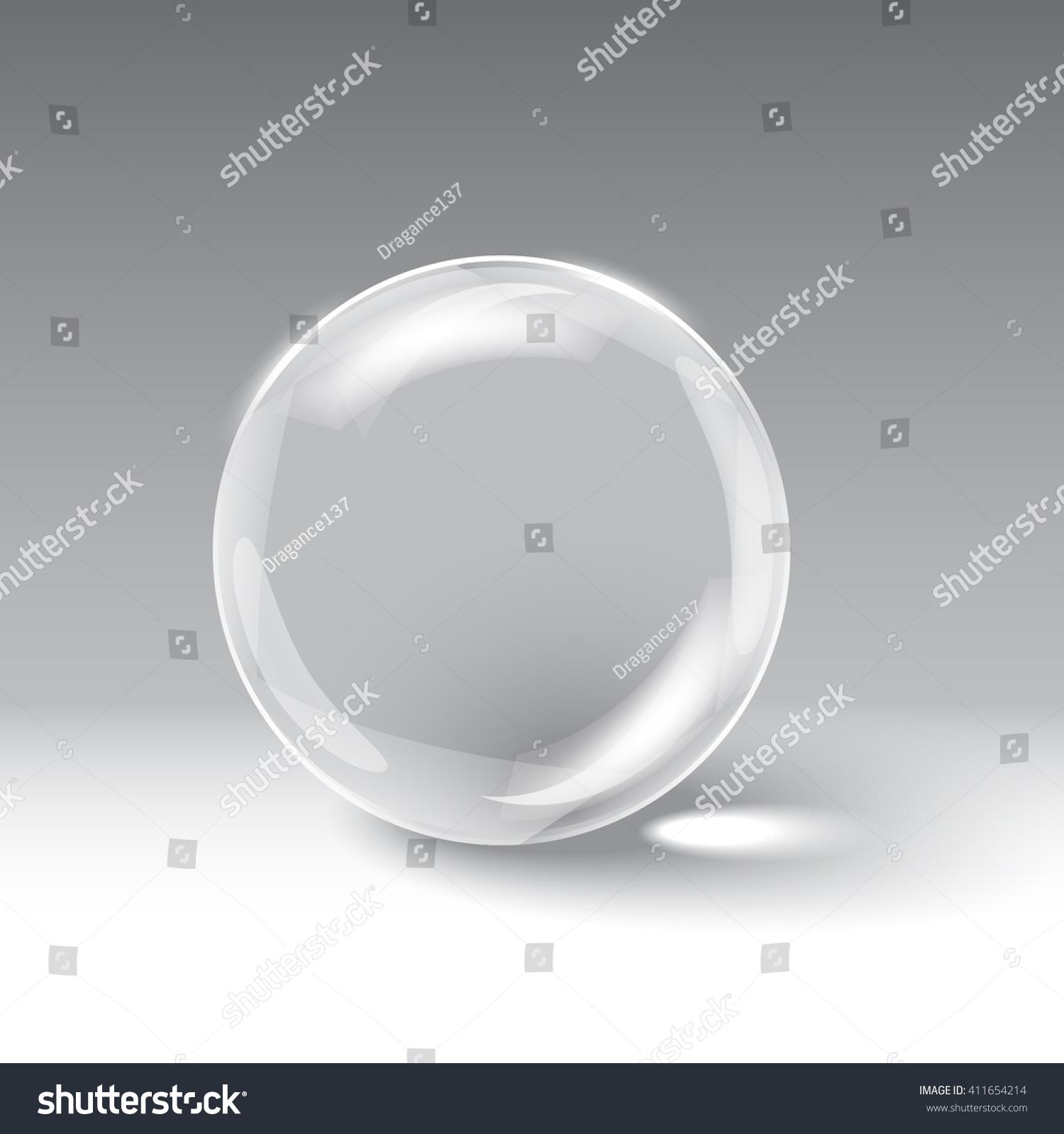 3d Glass Sphere Vector Illustration Stock Vector 411654214