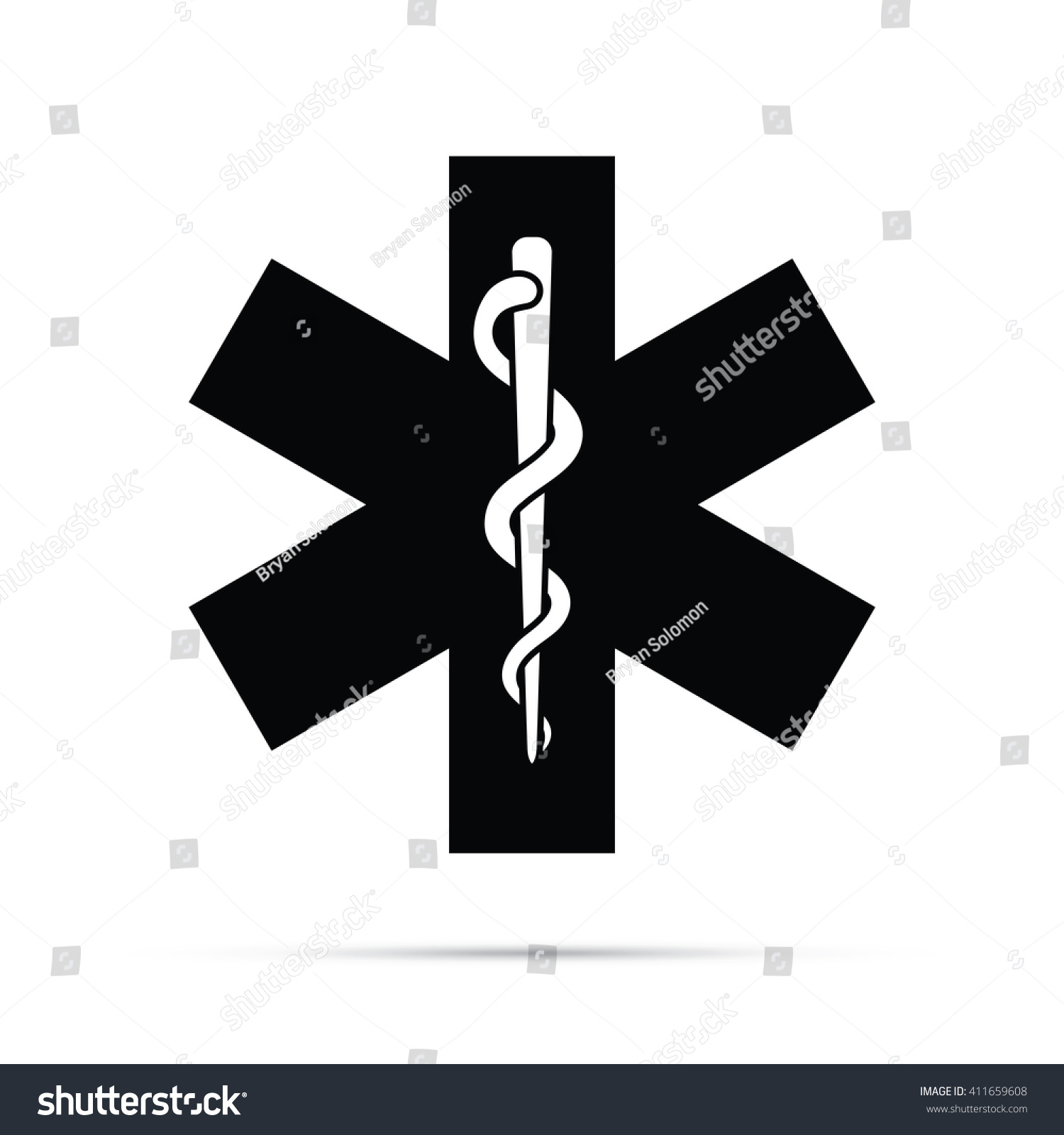 Rod asclepius snake staff medical symbol stock vector 411659608 rod of asclepius snake staff medical symbol icon buycottarizona Image collections