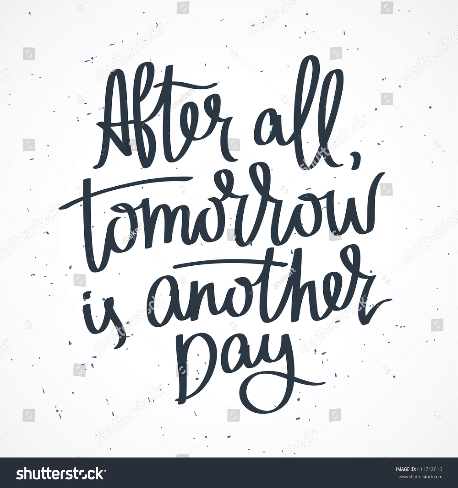 Proverb After All Tomorrow Another Day Stock Vector Royalty Free