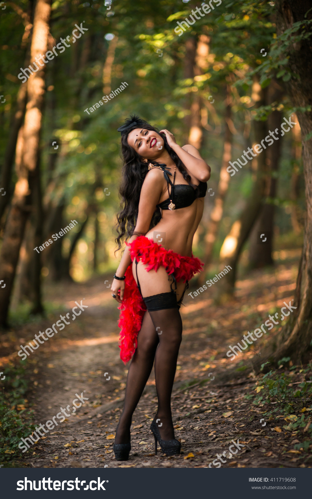 Sexy girls in the woods