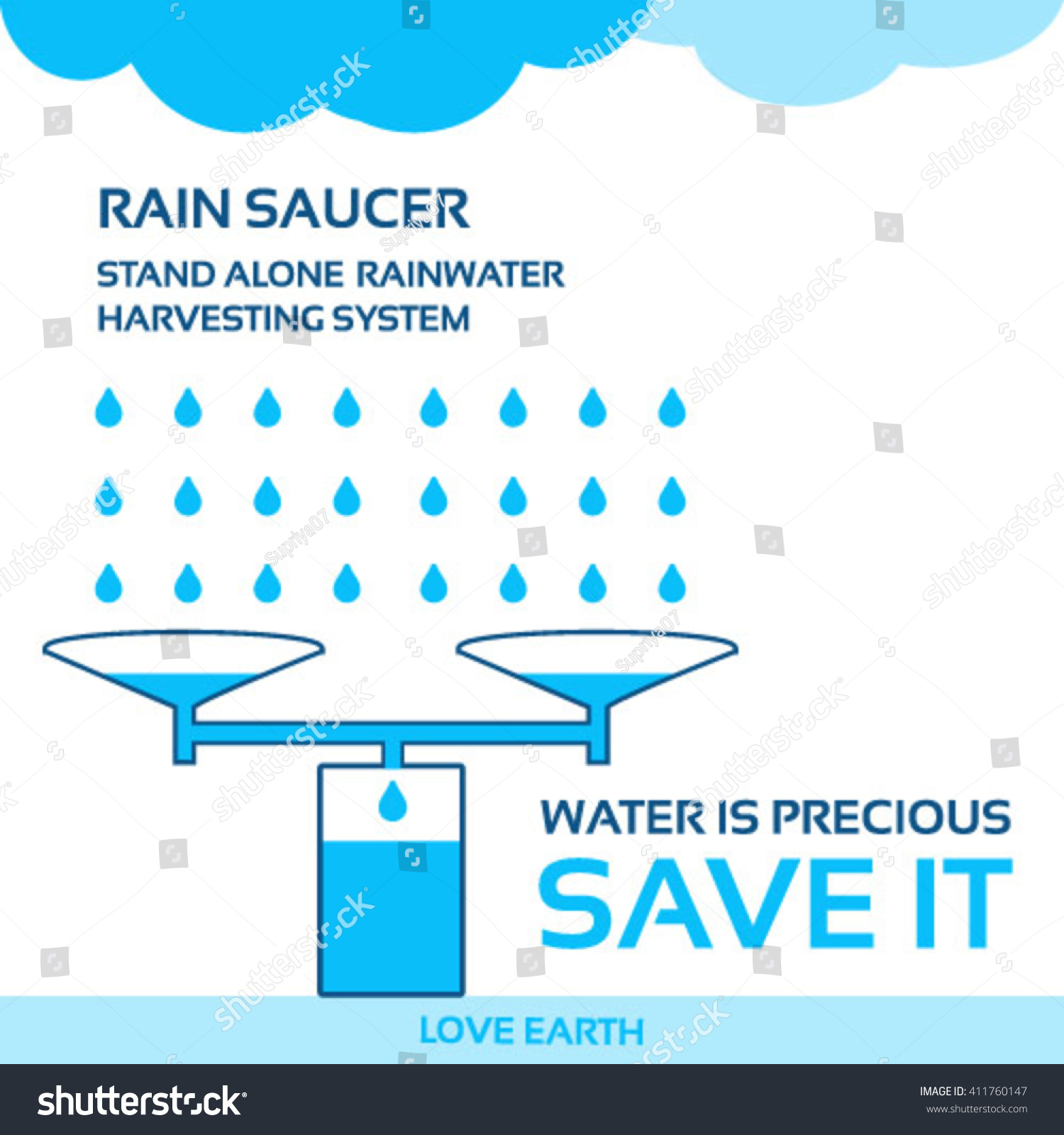 Water life save it rainwater harvesting solution water crisisvector water is life save it rainwater harvesting solution to water crisis vector altavistaventures Gallery